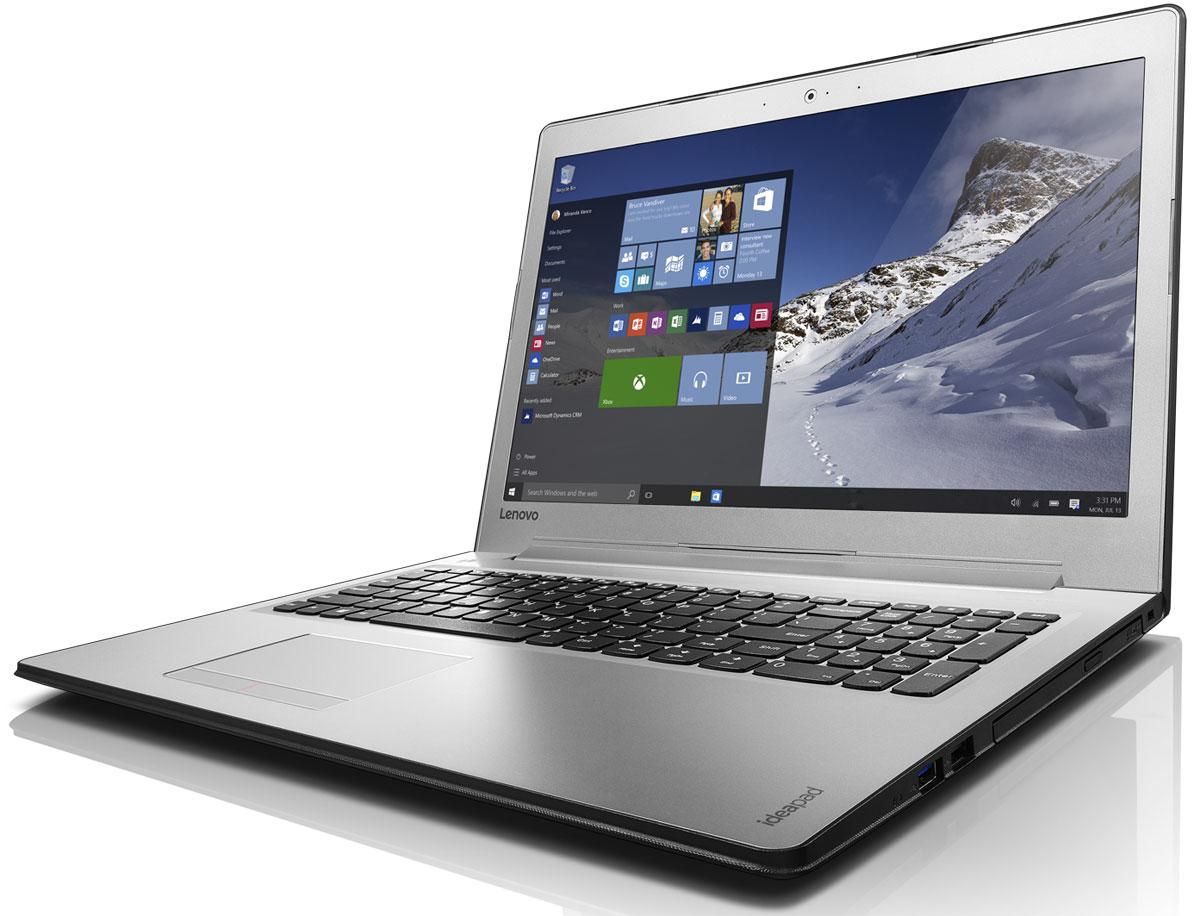 Lenovo IdeaPad 510-15IKB (80SV004RRK)80SV004RRKНоутбук Lenovo IdeaPad 510-15IKB с диагональю 15 дюймов оснащен процессором последнего поколения и обеспечивает впечатляющее качество звука и изображения. Это отличный помощник для работы и отдыха.Ноутбук оснащен дисплеем отличного качества. Доступна модель с 15,6-дюймовым дисплеем с разрешением Full HD (1920 x 1080) и матрицей IPS. Играйте в игры высокого разрешения, смотрите фильмы и общайтесь в видеочате — Lenovo Ideapad 510 обеспечит яркое и качественное изображение.Ideapad 510 позволяет выбрать необходимую конфигурацию ноутбука, которая соответствует бюджету. Благодаря поддержке дискретных видеокарт вплоть до NVIDIA GeForce 940M (опционально), Ideapad 510 обеспечивает невероятное качество визуализации графики при редактировании видео и в играх.Компьютер оснащен необходимыми технологиями памяти. Благодаря встроенному модулю памяти DDR4 (новое поколение оперативной памяти) ноутбук обеспечивает высокую производительность, низкое энергопотребление и повышенную надежность, что открывает широкие мультимедийные возможности.Высокопроизводительный, многофункциональный процессор Intel Core 6-го поколения со встроенными функциями обеспечения безопасности открывает качественно новые возможности для работы, творчества и 3D-игр.Насладитесь непревзойденным качеством звука при прослушивании музыки и просмотре фильмов. Ideapad 510 оснащен двумя динамиками Harman, которые обеспечивают четкое звучание.Благодаря высокоскоростному модулю Wi-Fi 802.11ac гарантирован выход в Интернет в любом месте. Скорость передачи данных стандарта Wi-Fi 802.11 a/c почти в три раза выше, чем 802.11 b/g/n.Ideapad 510 полностью совместим с замком Lenovo Kensington MiniSaver. Неважно, где вы находитесь — в офисе, школе или в поездке, — ваш ноутбук надежно защищен. Простая конструкция, усиленное крепление и запатентованная технология позволяют минимизировать риск кражи.Точные характеристики зависят от модификации.Ноутбук сертифицирован EAC и имеет русифицир