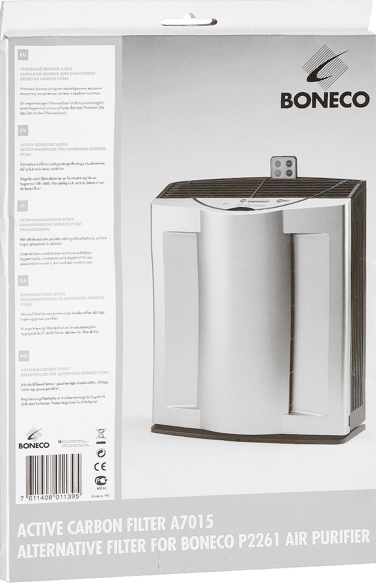 Boneco A7015 угольный фильтрНС-0070580Оригинальная система фильтров, применяемых в очистителях воздуха Boneco 2261 состоит из HЕРА-фильтра и угольного фильтра. HEPA-фильтр улавливает из воздуха до 99,95% аллергенов и загрязняющих веществ размером до 0,001 микрон — частички пыли, шерстинки животных, пыльцу цветущих растений и т.д. Угольный фильтр поглощает вредные газы, табачный дым и неприятные запахи и другие химические соединения. Название НЕРА-фильтр представляет собой аббревиатуру из слов High Efficiency Particulate Arresting, которая переводится с английского как высокоэффективная задержка частиц HEPA-фильтр требует замены по мере загрязнения, но не реже 1 раза в год. В сочетании с другими фильтрами, воздействие HEPA-фильтра усиливается, что позволяет более эффективно очищать воздух.