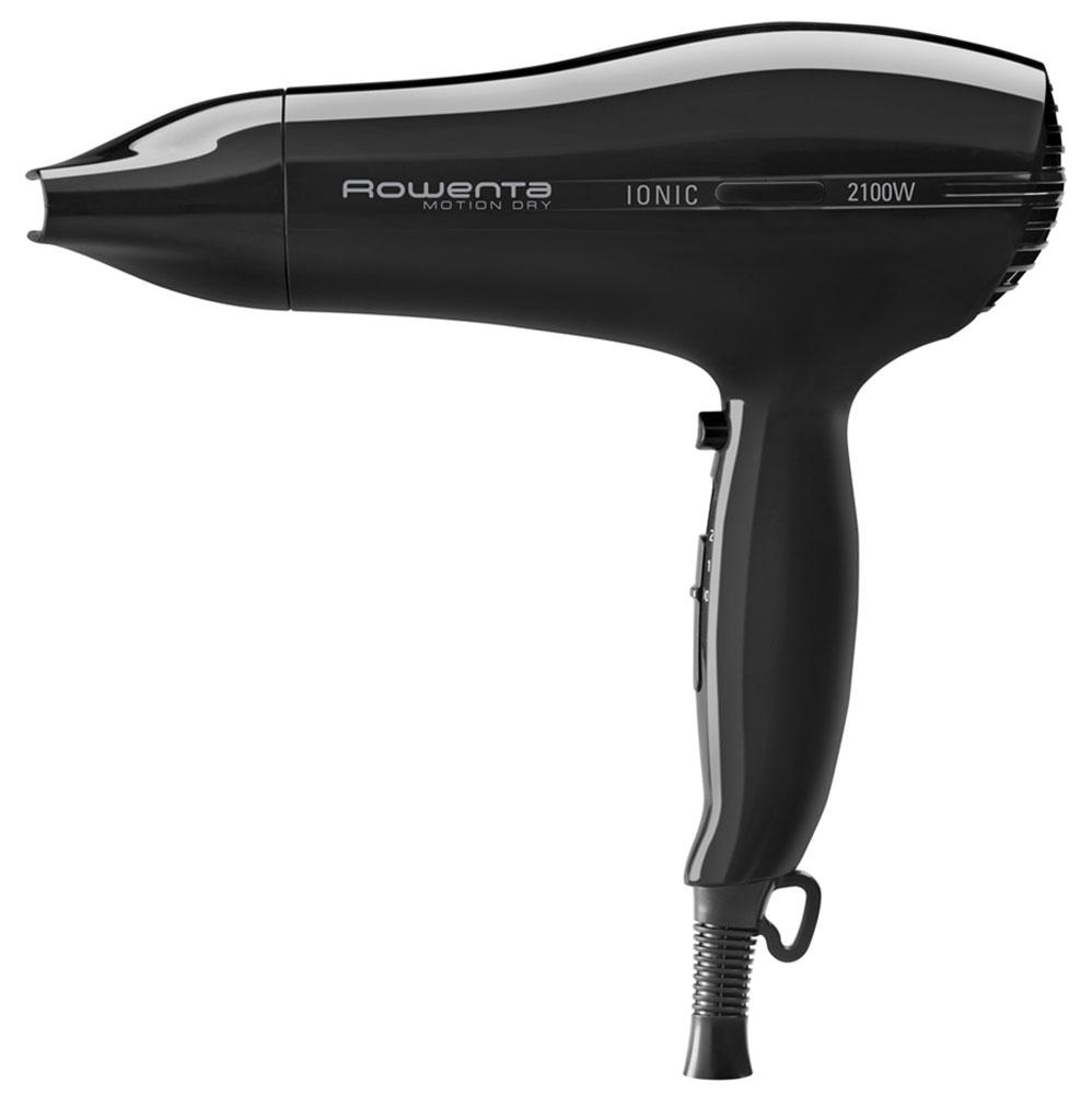 Rowenta CV3724F0 Motion Dry Ionic фенCV3724F0Высокая мощность, эргономичный дизайн и легкость - это только часть того, чем может похвастаться Rowenta CV3724F0 из линейки Motion Dry от Rowenta.Три режима работы позволяют регулировать температуру и защитить волосы от перегревания. Концентратор поможет сделать профессиональную укладку, как в салоне красоты.Благодаря режиму подачи холодного воздуха вы сможете зафиксировать полученный результат надолго. Отличительной чертой Rowenta CV3724F0 является функция ионизации воздуха, благодаря которой ваши волосы не пересушатся и наполнятся блеском.