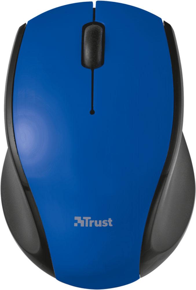 Trust Oni Wireless Micro, Black Blue мышь21049Миниатюрная беспроводная оптическая мышь Trust Oni Micro непременно подойдет любому пользователю ПК. Радиус действия беспроводной связи составляет 8 метров, что обеспечивает большую свободу действий. Оптический сенсор с разрешением 1200 dpi обеспечивает максимально точное позиционирование курсора. Благодаря симметричной форме эта мышка подходит как правшам, так и левшам. Миниатюрный микроприемник можно хранить в корпусе мыши.