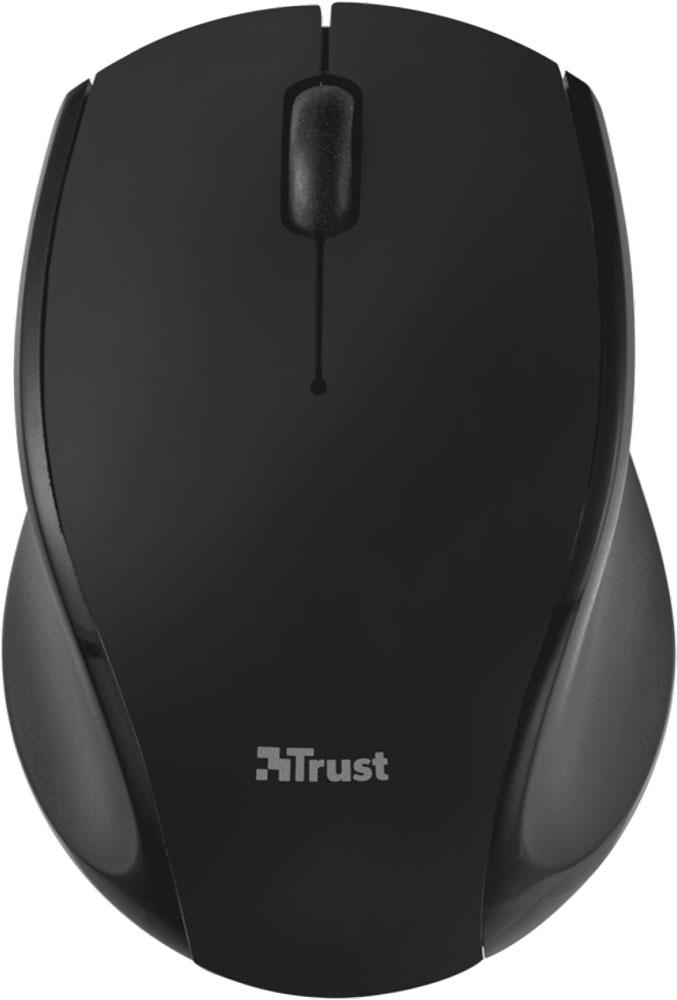 Trust Oni Wireless Micro, Black мышь21048Миниатюрная беспроводная оптическая мышь Trust Oni Micro непременно подойдет любому пользователю ПК. Радиус действия беспроводной связи составляет 8 метров, что обеспечивает большую свободу действий. Оптический сенсор с разрешением 1200 dpi обеспечивает максимально точное позиционирование курсора. Благодаря симметричной форме эта мышка подходит как правшам, так и левшам. Миниатюрный микроприемник можно хранить в корпусе мыши.