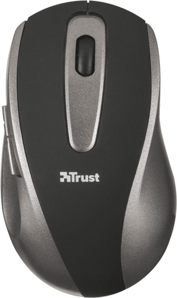 Trust EasyClick Wireless Mouse, Silver Black мышь цена