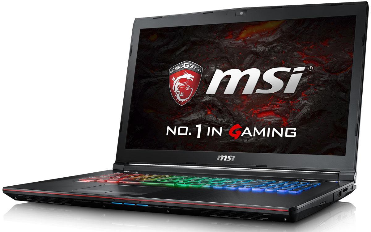 MSI GE72VR 6RF-213RU Apache Pro, BlackGE72VR 6RF-213RUMSI создала игровой ноутбук GE72VR 6RF с новейшим поколением графических карт NVIDIA GeForce GTX 1060. Благодаря инновационной системе охлаждения Cooler Boost и специальным геймерским технологиям, применённым в игровом ноутбуке MSI GE72VR 6RF, графическая карта новейшего поколения NVIDIA GeForce GTX 1060 сможет продемонстрировать всю свою мощь без остатка.Олицетворяя концепцию Один клик до VR и предлагая полное погружение в игровые вселенные с идеально плавным геймплеем, игровой ноутбук MSI разбивает устоявшиеся стереотипы об исключительной производительности десктопов. Он готов поразить любого геймера, заставив взглянуть на мобильные игровые системы по-новому.Испытайте абсолютно новый способ взаимодействия с компьютером. Способный понимать ваши движения, эмоции и голос, процессор Intel Core 6-го поколения поднимет удовольствие от отдыха и работы на новый уровень. Обладая повышенной производительностью, новый CPU стал более экономичным. Так, процессор Core i7-6700HQ стал на 20% быстрее i7-4720HQ при аналогичной нагрузке.Панель IPS-уровня отличается эффективной обзорностью 170° по горизонтали и 120° по вертикали. Помимо быстрого отклика матрицы – 5 мс, дисплей ноутбука позволит отображать динамичные сцены с частотой 120 кадров в секунду. Столь высокая скорость прорисовки сцен станет серьёзным доводом для вашей победы в шутерах от первого лица.Технология MSI True Color гарантирует идеальную цветопередачу каждого пикселя на дисплеях ноутбуков MSI. После тестирования и длительного процесса заводской калибровки по технологии MSI True Color LCD-панели приобретают высокую точность передачи цветового пространства sRGB – практически 100%. Таким образом, изображение воспроизводится с высочайшим уровнем качества, что гарантирует превосходную цветовую точность для множества задач и приложений.Испытайте абсолютно новый способ взаимодействия с компьютером. Способные понимать ваши движения, эмоции и голос процессоры Intel Core 