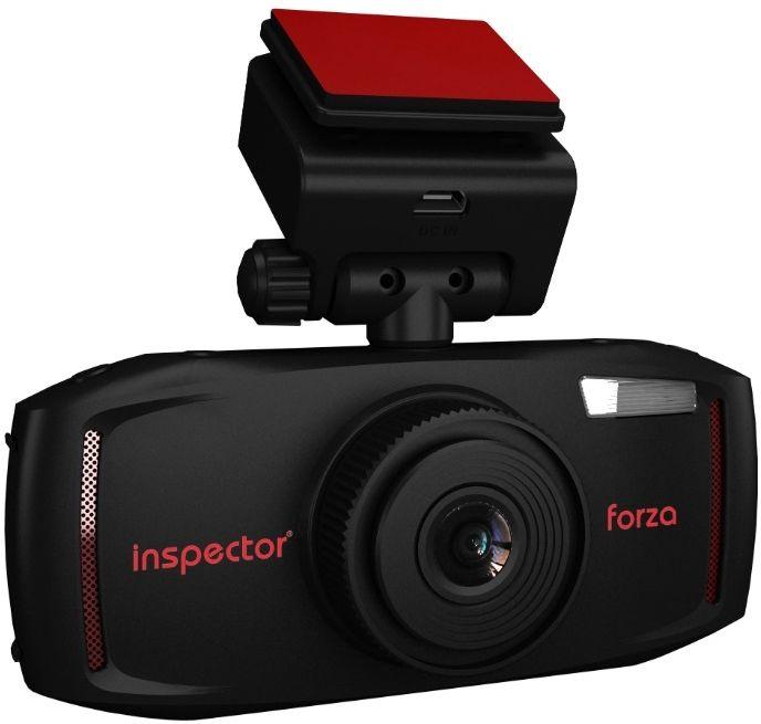 Inspector Forza, Black видеорегистраторFORZAАвтомобильный видеорегистратор Inspector Forza включает весь стандартный набор функций устройства видеофиксации.Для получения качественной видеозаписи в формате FullHD 1080p 30к/с регистратор оснащен современным процессором Ambarella A7L и матрицей OmniVision OV4689 с широкоугольной оптикой для максимального охвата дорожной обстановки.Все видеоролики и фотографии устройство записывает на карту памяти MicroSD, которая устанавливается в специальный слот расширения для MicroSD карт памяти объемом до 64 Гб.При необходимости просмотра записанного видео на месте регистратор Inspector Forza оснащен большим встроенным дисплеем 2,7 дюйма. Также устройство поддерживает функцию сохранения защищенных от перезаписи видеороликов в ручном режиме и по датчику G-Sensor.Разрешение фото: 4800 x 2700Объектив: f=3.4 при F2.0Аккумулятор: 500 мАчФормат файлов: MOV (MPEG-4) / JPEG
