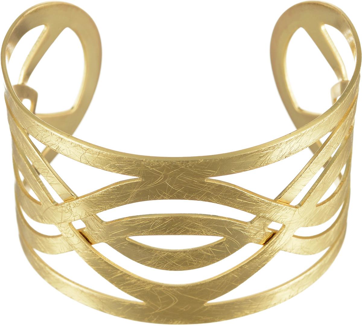 Браслет Selena Afrodita, цвет: золотистый. 40078300Глидерный браслетБраслет Selena Afrodita выполнен из латуни с гальваническим покрытием золотом. Жесткая конструкция изделия делает женское запястье нежным и хрупким. Надев его, вы всегда будете в центре внимания.Греческий стиль - прямые силуэты, струящиеся однотонные ткани, сандалии - модный тренд последнего времени. И конечно, греческий образ будет незавершенным без специально подобранных украшений.Изделия из коллекции Afrodita - это не просто классические украшения, а выразительные аксессуары с характером, которые обращают на себя внимание.
