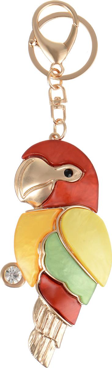 Брелок Selena Accenta, цвет: желтый, зеленый, красный. 30026370Брелок для ключейБрелок Selena Accenta изготовлен из латуни с гальваническим покрытием золотом и ацетата и декорирован кристаллом Preciosa. Выполнен в виде попугая. Итальянский ацетат - это дорогой высококачественный полимер, широко применяемый в модной индустрии. Он обладает удивительной особенностью имитировать самые разные природные рисунки и фактуры. Коллекция Accenta - это гимн современности! Модели выполнены в стиле элегантный кэжуал и глэм-рок, они органично впишутся в образ и молодых девушек, и взрослых женщин, чьи взгляды на моду свежи и открыты новому. Все украшения Accenta комплектуются между собой и создают гармоничный ансамбль. Украшения можно носить в любое время года, они уместны на празднике, на прогулке и на работе.