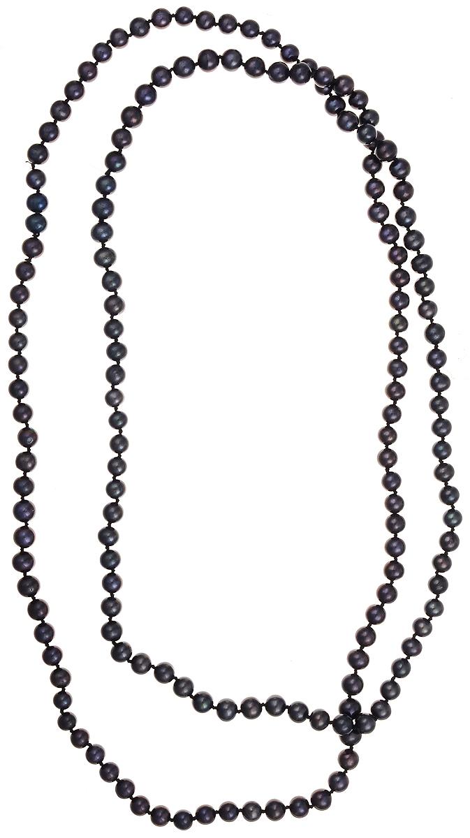 Бусы Art-Silver, цвет: синий, длина 120 см. КЖ7-8АА+120-3788Бусы-ниткаБусы Art-Silver подчеркнут изящество и непревзойденный вкус своей обладательницы. Они выполнены из бижутерного сплава и культивированного жемчуга диаметром 7 мм.Культивированный жемчуг - это практичный аналог природного жемчуга. Бусинки из прессованных раковин помещаются внутрь устрицы и возвращаются в воду. Когда бусины покрываются перламутром, их извлекают из моллюска. Форма жемчужины получается идеально ровной с приятным матовым блеском.