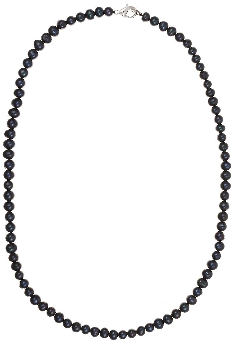 Бусы Art-Silver, цвет: синий, длина 55 см. КЖ7-8АА55-1050Колье (короткие одноярусные бусы)Бусы Art-Silver подчеркнут изящество и непревзойденный вкус своей обладательницы. Они выполнены из бижутерного сплава и культивированного жемчуга диаметром 7 мм.Изделие оснащено удобным замком-карабином.Культивированный жемчуг — это практичный аналог природного жемчуга. Бусинки из прессованных раковин помещаются внутрь устрицы и возвращаются в воду. Когда бусины покрываются перламутром, их извлекают из моллюска. Форма жемчужины получается идеально ровной с приятным матовым блеском.