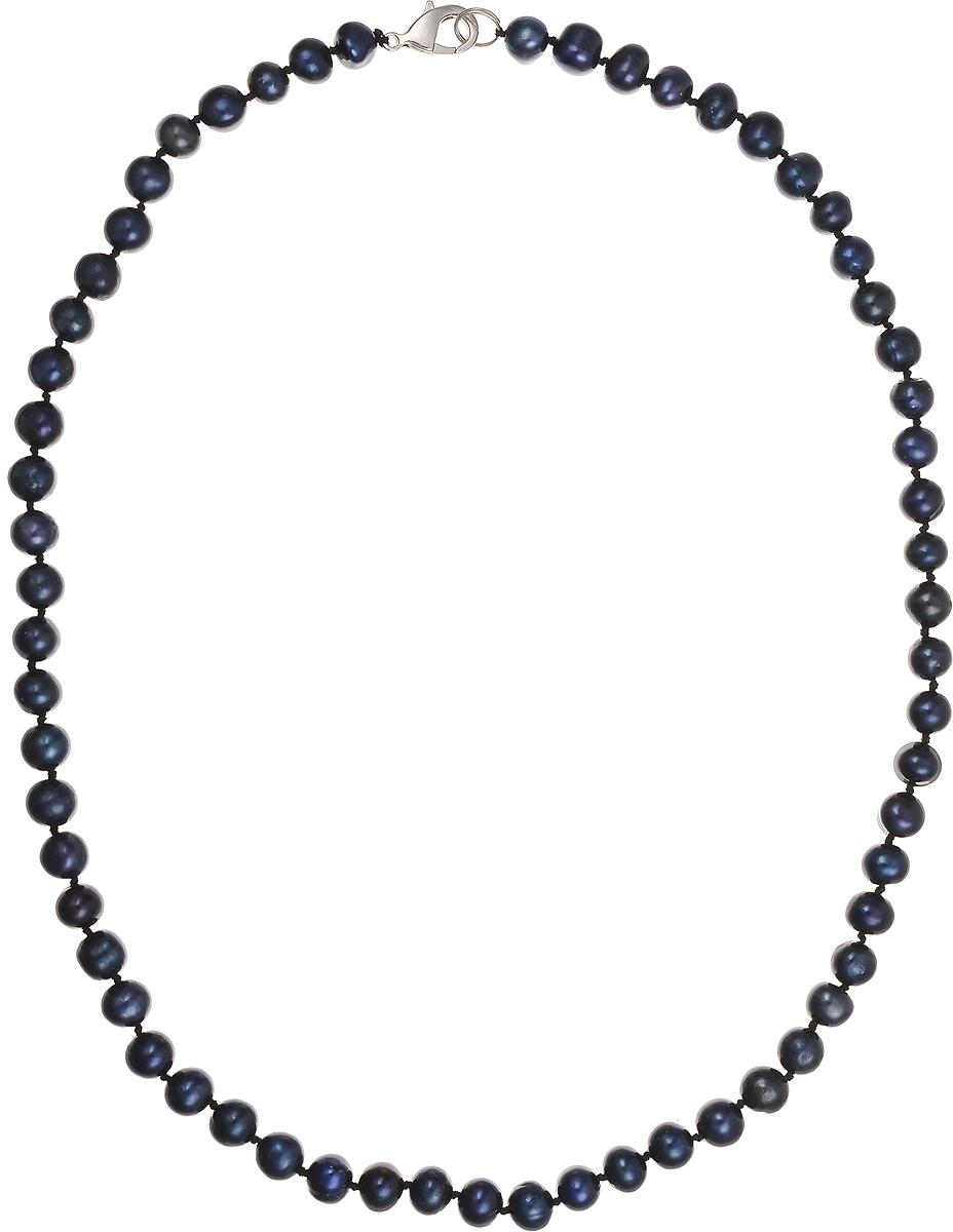 Бусы Art-Silver, цвет: синий, длина 50 см. КЖ7-8А50-464Колье (короткие одноярусные бусы)Бусы Art-Silver подчеркнут изящество и непревзойденный вкус своей обладательницы. Они выполнены из бижутерного сплава и культивированного жемчуга диаметром 7 мм.Изделие оснащено удобным замком-карабином.Культивированный жемчуг — это практичный аналог природного жемчуга. Бусинки из прессованных раковин помещаются внутрь устрицы и возвращаются в воду. Когда бусины покрываются перламутром, их извлекают из моллюска. Форма жемчужины получается идеально ровной с приятным матовым блеском.