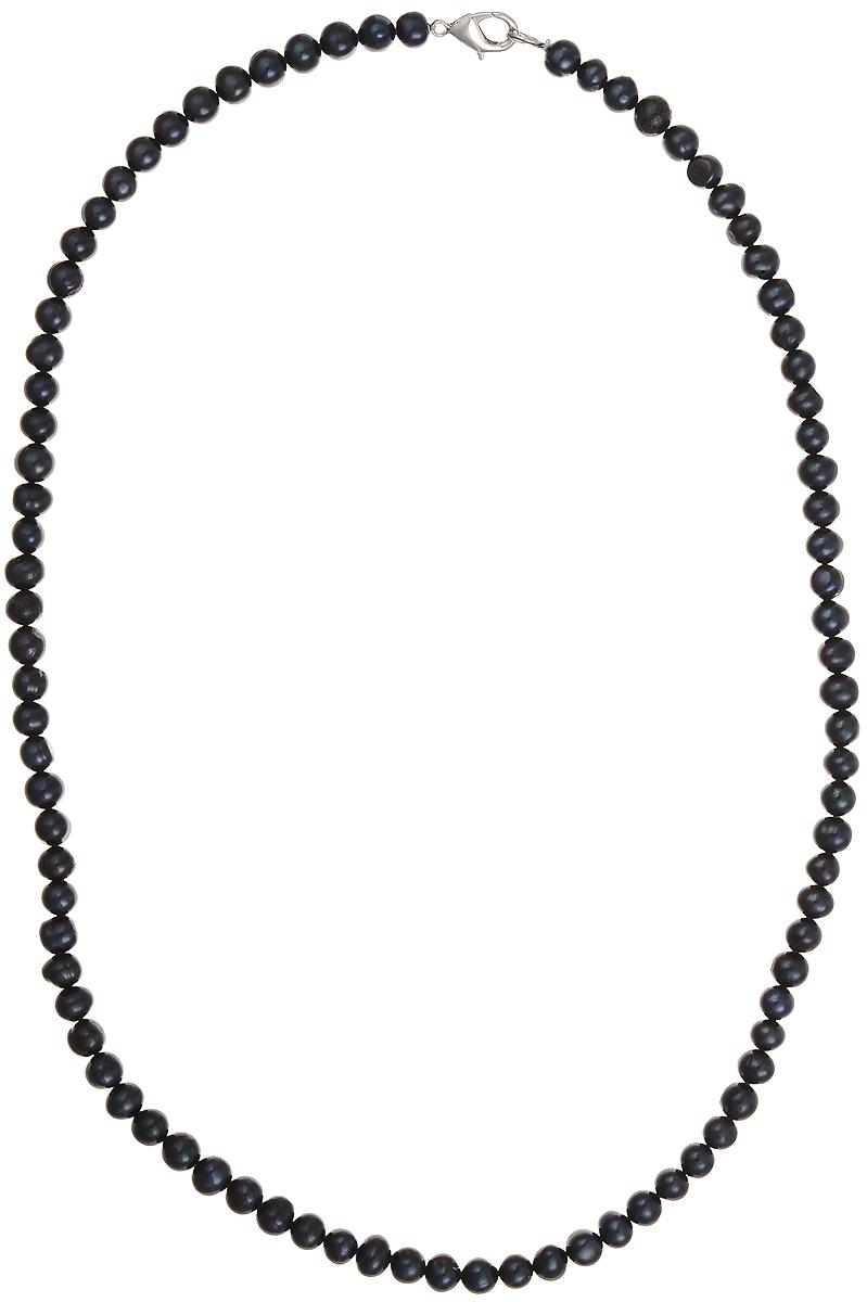Бусы Art-Silver, цвет: черный, длина 55 см. КЖ6-7АА55-757Колье (короткие одноярусные бусы)Бусы Art-Silver подчеркнут изящество и непревзойденный вкус своей обладательницы. Они выполнены из бижутерного сплава и культивированного жемчуга диаметром 6 мм.Изделие оснащено удобным замком-карабином.Культивированный жемчуг — это практичный аналог природного жемчуга. Бусинки из прессованных раковин помещаются внутрь устрицы и возвращаются в воду. Когда бусины покрываются перламутром, их извлекают из моллюска. Форма жемчужины получается идеально ровной с приятным матовым блеском.