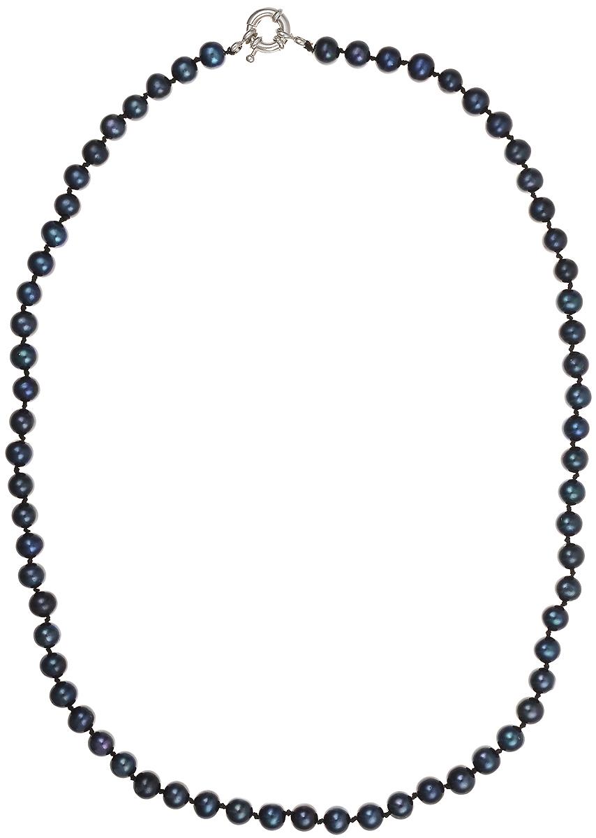 Бусы Art-Silver, цвет: синий, длина 55 см. КЖ6-7АА+55-1443Колье (короткие одноярусные бусы)Бусы Art-Silver подчеркнут изящество и непревзойденный вкус своей обладательницы. Они выполнены из бижутерного сплава и культивированного жемчуга диаметром 6 мм.Изделие оснащено удобным замком-карабином.Культивированный жемчуг — это практичный аналог природного жемчуга. Бусинки из прессованных раковин помещаются внутрь устрицы и возвращаются в воду. Когда бусины покрываются перламутром, их извлекают из моллюска. Форма жемчужины получается идеально ровной с приятным матовым блеском.