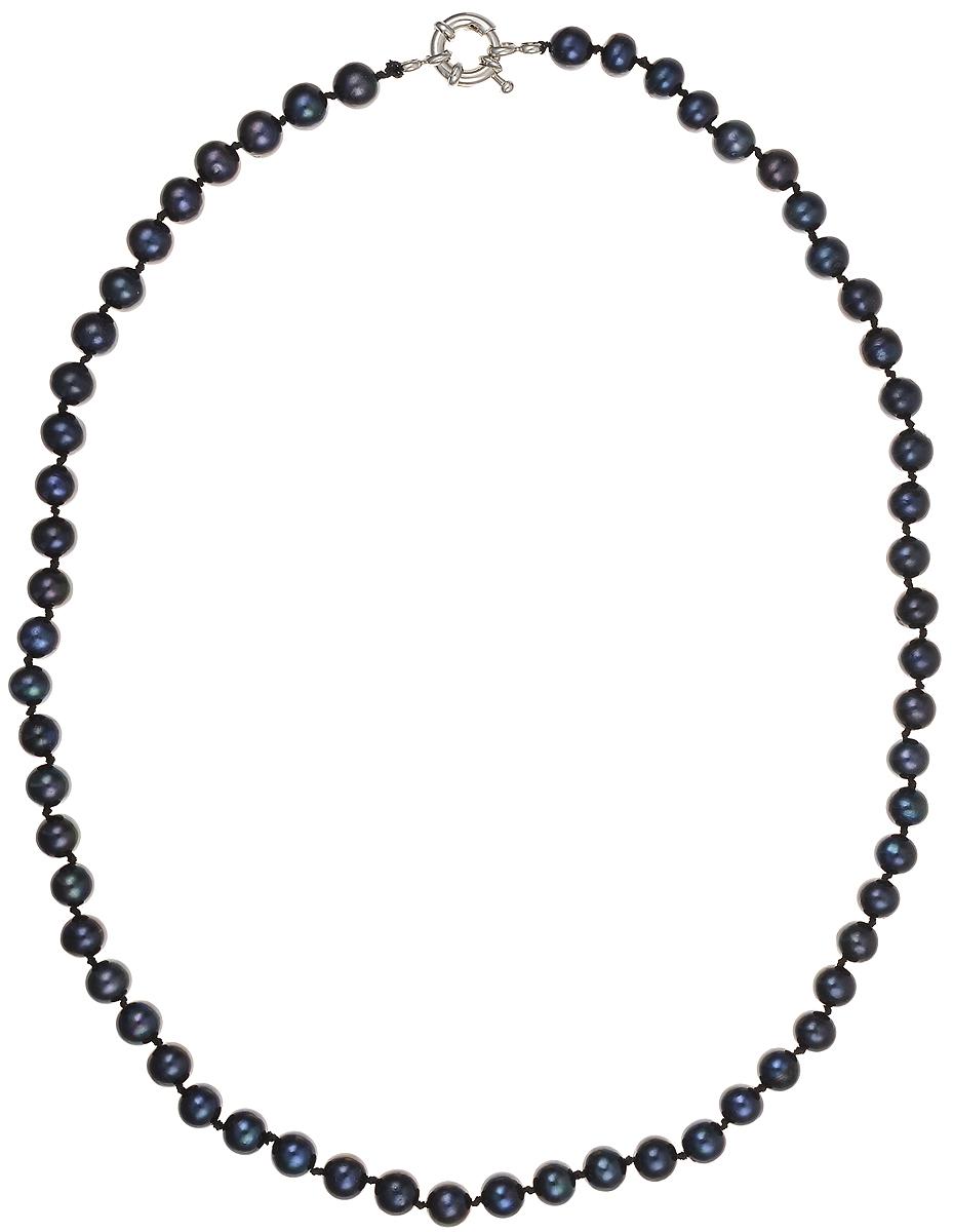 Бусы Art-Silver, цвет: синий, длина 50 см. КЖ6-7АА+50-1308Колье (короткие одноярусные бусы)Бусы Art-Silver подчеркнут изящество и непревзойденный вкус своей обладательницы. Они выполнены из бижутерного сплава и культивированного жемчуга диаметром 6 мм.Изделие оснащено удобным замком-карабином.Культивированный жемчуг — это практичный аналог природного жемчуга. Бусинки из прессованных раковин помещаются внутрь устрицы и возвращаются в воду. Когда бусины покрываются перламутром, их извлекают из моллюска. Форма жемчужины получается идеально ровной с приятным матовым блеском.
