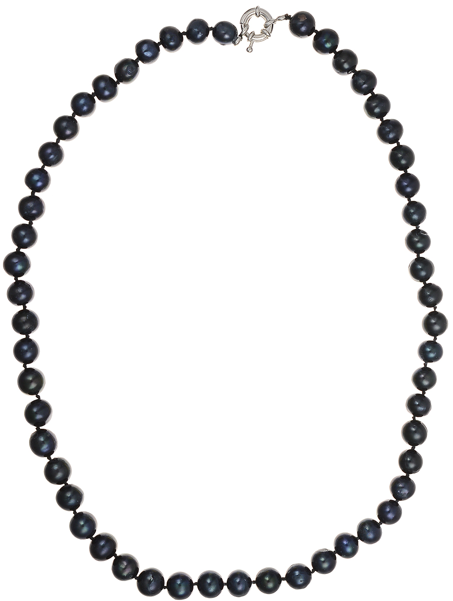 Бусы Art-Silver, цвет: синий, длина 50 см. КЖ9-10АА50-1295Колье (короткие одноярусные бусы)Бусы Art-Silver подчеркнут изящество и непревзойденный вкус своей обладательницы. Они выполнены из бижутерного сплава и культивированного жемчуга диаметром 9 мм.Изделие оснащено удобным замком-карабином.Культивированный жемчуг - это практичный аналог природного жемчуга. Бусинки из прессованных раковин помещаются внутрь устрицы и возвращаются в воду. Когда бусины покрываются перламутром, их извлекают из моллюска. Форма жемчужины получается идеально ровной с приятным матовым блеском.