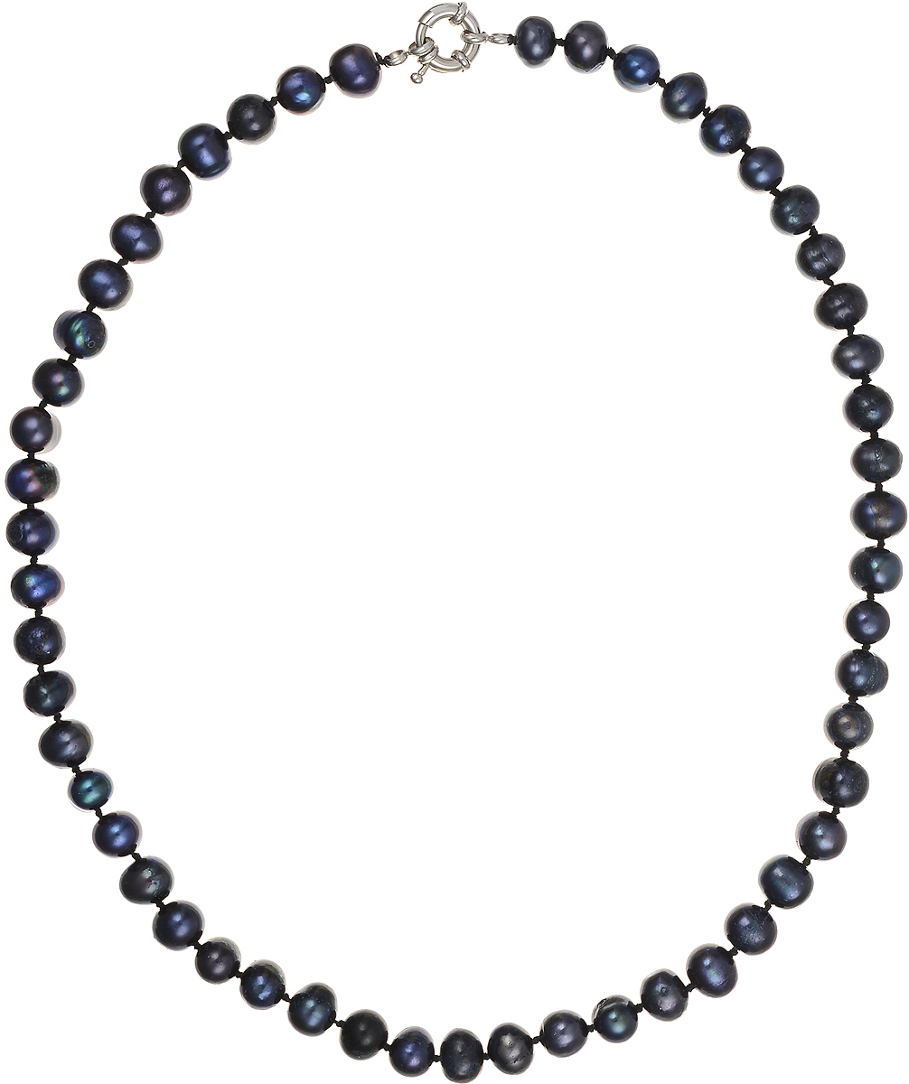 Бусы Art-Silver, цвет: синий, длина 45 см. КЖ8-9А+45-610Колье (короткие одноярусные бусы)Бусы Art-Silver подчеркнут изящество и непревзойденный вкус своей обладательницы. Они выполнены из бижутерного сплава и культивированного жемчуга диаметром 8 мм.Изделие оснащено удобным замком-карабином.Культивированный жемчуг - это практичный аналог природного жемчуга. Бусинки из прессованных раковин помещаются внутрь устрицы и возвращаются в воду. Когда бусины покрываются перламутром, их извлекают из моллюска. Форма жемчужины получается идеально ровной с приятным матовым блеском.