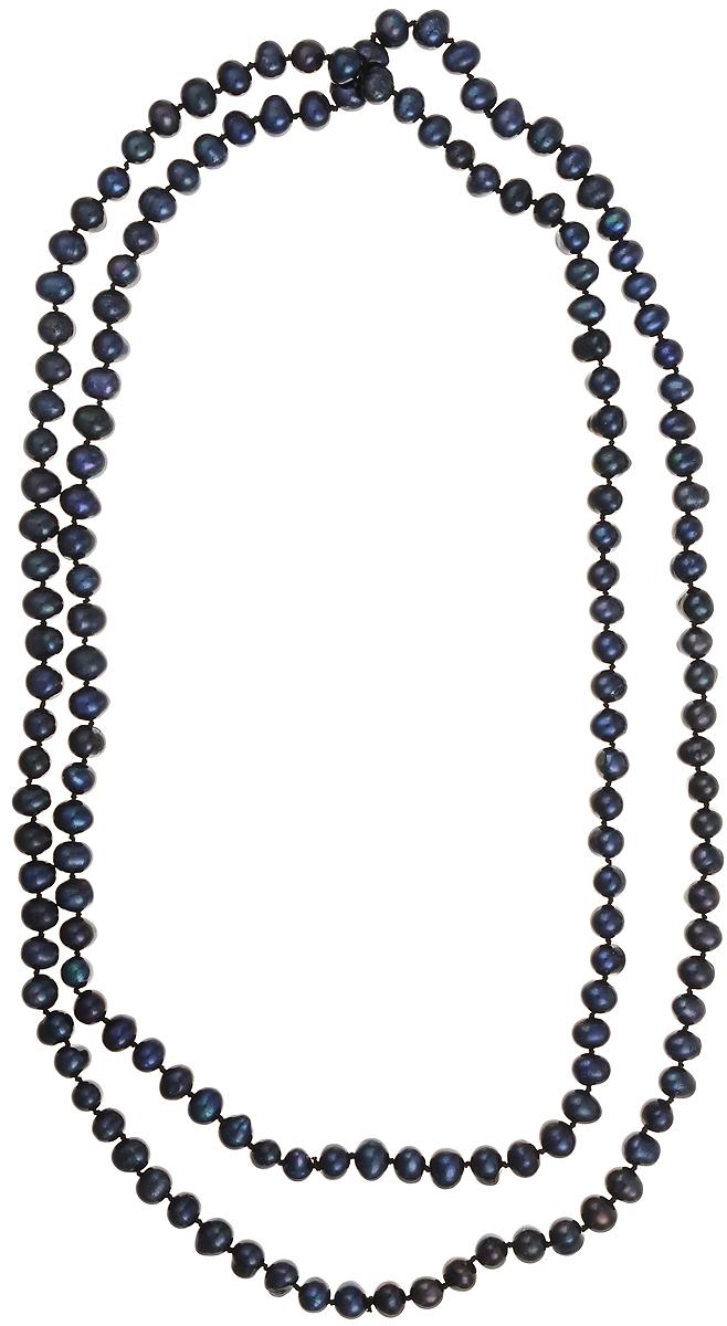 Бусы Art-Silver, цвет: синий, длина 120 см. КЖ7-8А120-1100Бусы-ниткаБусы Art-Silver подчеркнут изящество и непревзойденный вкус своей обладательницы. Они выполнены из бижутерного сплава и культивированного жемчуга диаметром 7 мм.Культивированный жемчуг - это практичный аналог природного жемчуга. Бусинки из прессованных раковин помещаются внутрь устрицы и возвращаются в воду. Когда бусины покрываются перламутром, их извлекают из моллюска. Форма жемчужины получается идеально ровной с приятным матовым блеском.