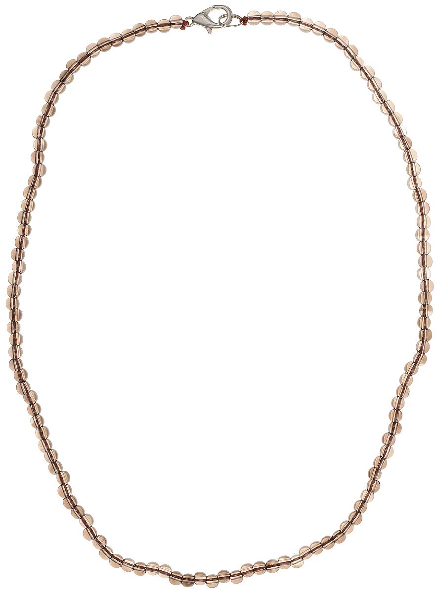 Бусы Art-Silver, цвет: коричневый, длина 45 см. РТ4-45-271Колье (короткие одноярусные бусы)Бусы Art-Silver подчеркнут изящество и непревзойденный вкус своей обладательницы. Они выполнены из бижутерного сплава и раухтопаза диаметром 4 мм.Изделие оснащено удобным замком-карабином.Раухтопаз (дымчатый кварц) является наиболее ценной разновидностью кварца и, по древним преданиям, выводит из организма негативную энергию, злобу и раздражение. Это один из самых «энергетических» темных камней. Минерал отличается необычной природной окраской, обладает особой утончённой эстетикой и аурой. Украшения с раухтопазами всегда смотрятся респектабельно и элегантно.