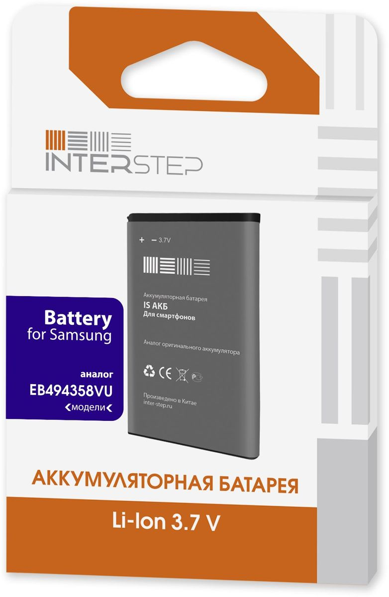 Interstep аккумулятор для Samsung Galaxy Ace GT-S5830/Galaxy Gio S5660 (1350 мАч)