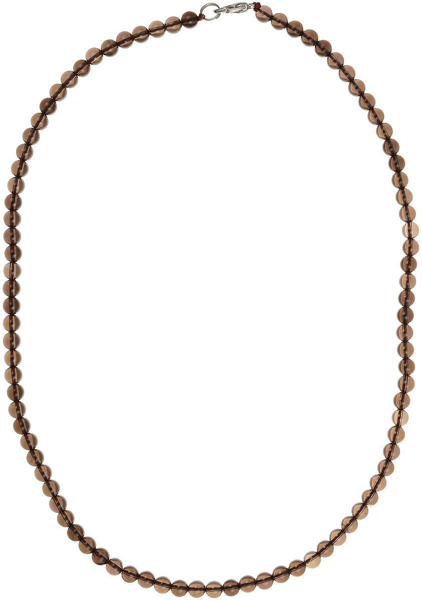 Бусы Art-Silver, цвет: коричневый, длина 50 см. РТ6-50-351Колье (короткие одноярусные бусы)Бусы Art-Silver подчеркнут изящество и непревзойденный вкус своей обладательницы. Они выполнены из бижутерного сплава и раухтопаза диаметром 5 мм.Изделие оснащено удобным замком-карабином.Раухтопаз (дымчатый кварц) является наиболее ценной разновидностью кварца и, по древним преданиям, выводит из организма негативную энергию, злобу и раздражение. Это один из самых «энергетических» темных камней. Минерал отличается необычной природной окраской, обладает особой утончённой эстетикой и аурой. Украшения с раухтопазами всегда смотрятся респектабельно и элегантно.