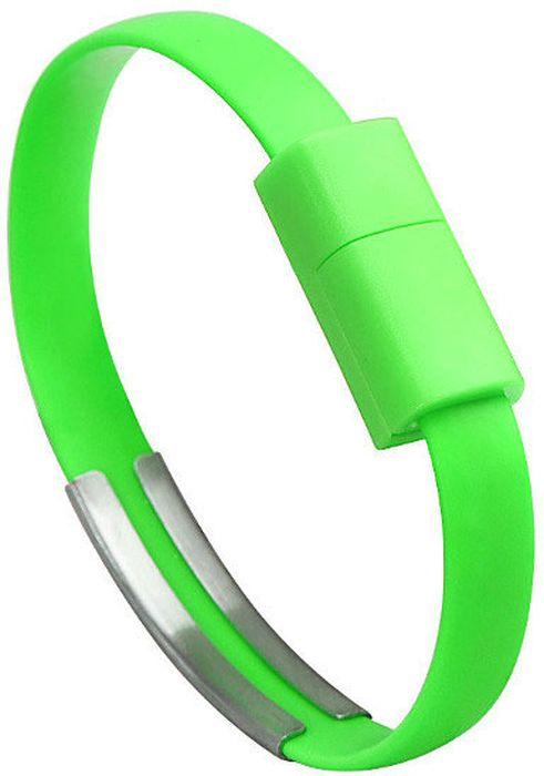 IQ Format, Green кабель-браслет USB-Lightning4627104426602Оригинальный кабель IQ Format в виде браслета удобно всегда носить с собой. Предназначен для зарядки мобильных устройств. Также кабель можно использовать для подключения портативных устройств к персональному компьютеру.