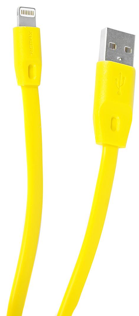 Remax 161, Yellow кабель USB-Lightning4627112730807Кабель Remax 161 позволяет подключить ваш iPhone, iPad или iPod с разъемом Lightning к порту USB на компьютере для синхронизации и зарядки. Кроме того, его можно подключить к адаптеру питания USB, чтобы зарядить устройство от розетки. Remax 161 - незаменимая и качественная деталь для повседневной жизни.