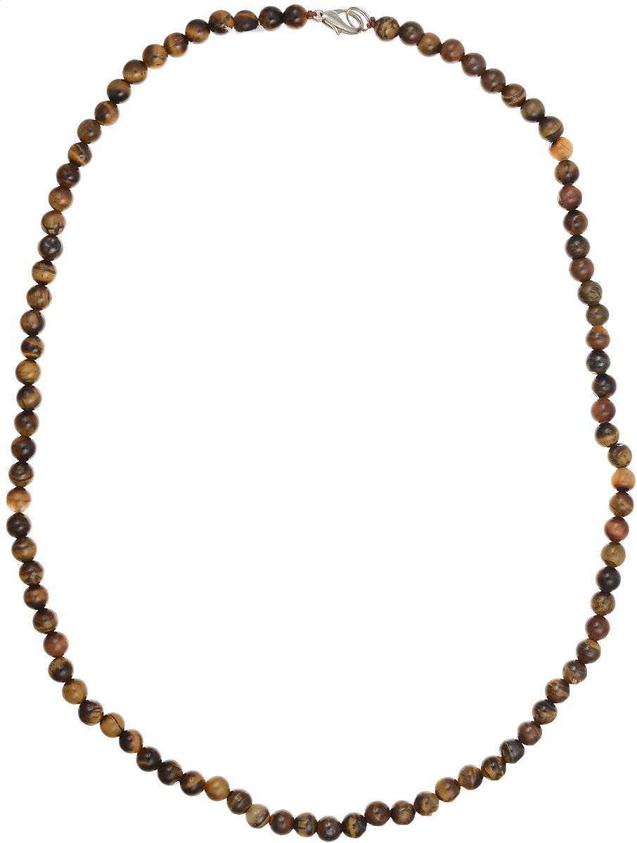 Бусы Art-Silver, цвет: коричневый, длина 55 см. ТГ6-55-305Колье (короткие одноярусные бусы)Бусы Art-Silver подчеркнут изящество и непревзойденный вкус своей обладательницы. Они выполнены из бижутерного сплава и тигрового глаза диаметром 6 мм.Изделие оснащено удобным замком-карабином.Тигровый глаз представляет собой разновидность кварца, насыщенную волокнистым материалом. Благодаря этим волокнам у тигрового глаза возникает характерный волнообразный отлив и сияние, как у глаза хищных кошек. Талисман с тигровым глазом служит людям, занимающимся творческой деятельностью, а также тем, у кого работа или хобби связаны с риском для жизни или повышенным травматизмом. Например, брелок с тигровым глазом способен укрепить волю к победе у спортсмена.