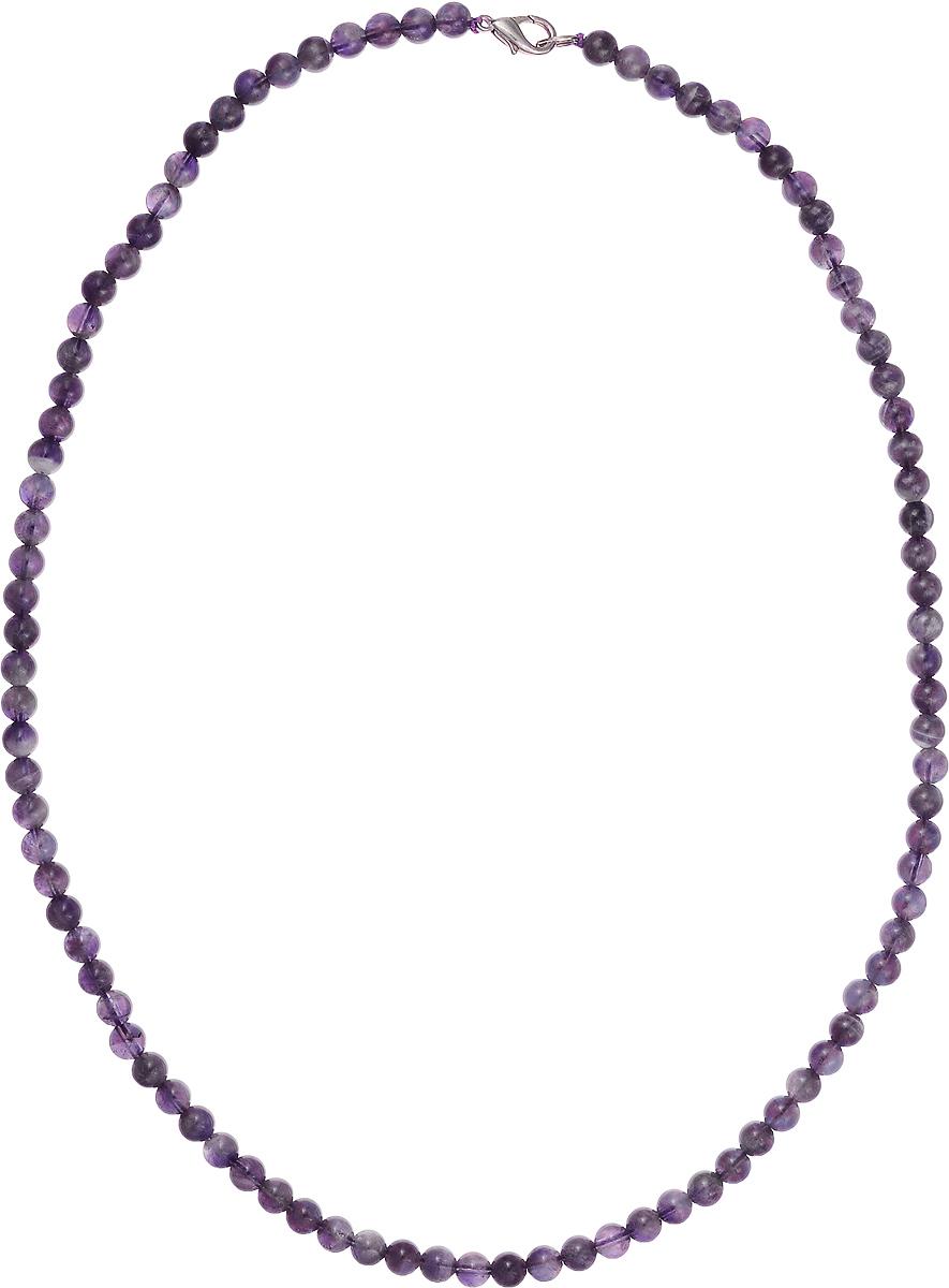 Бусы Art-Silver, цвет: фиолетовый, длина 55 см. Ам6-55-396Колье (короткие одноярусные бусы)Бусы Art-Silver подчеркнут изящество и непревзойденный вкус своей обладательницы. Они выполнены из бижутерного сплава и аметиста диаметром 6 мм.Изделие оснащено удобным замком-карабином.Аметист - камень чистоты, непорочности и преданности. Онпоможет справиться с душевной болью и успокоит мысли, наполнит душу добрыми намерениями. Украшение из аметиста, положенное под подушку - залог хороших снов. Рекомендуется при стрессах и перевозбуждении.