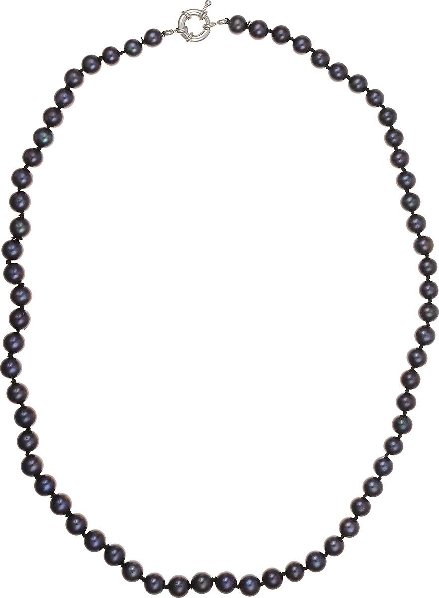 Бусы Art-Silver, цвет: синий, длина 50 см. КЖ7-8АА+50-1563Колье (короткие одноярусные бусы)Бусы Art-Silver подчеркнут изящество и непревзойденный вкус своей обладательницы. Они выполнены из бижутерного сплава и культивированного жемчуга диаметром 6 мм.Изделие оснащено удобным замком-карабином.Культивированный жемчуг - это практичный аналог природного жемчуга. Бусинки из прессованных раковин помещаются внутрь устрицы и возвращаются в воду. Когда бусины покрываются перламутром, их извлекают из моллюска. Форма жемчужины получается идеально ровной с приятным матовым блеском.