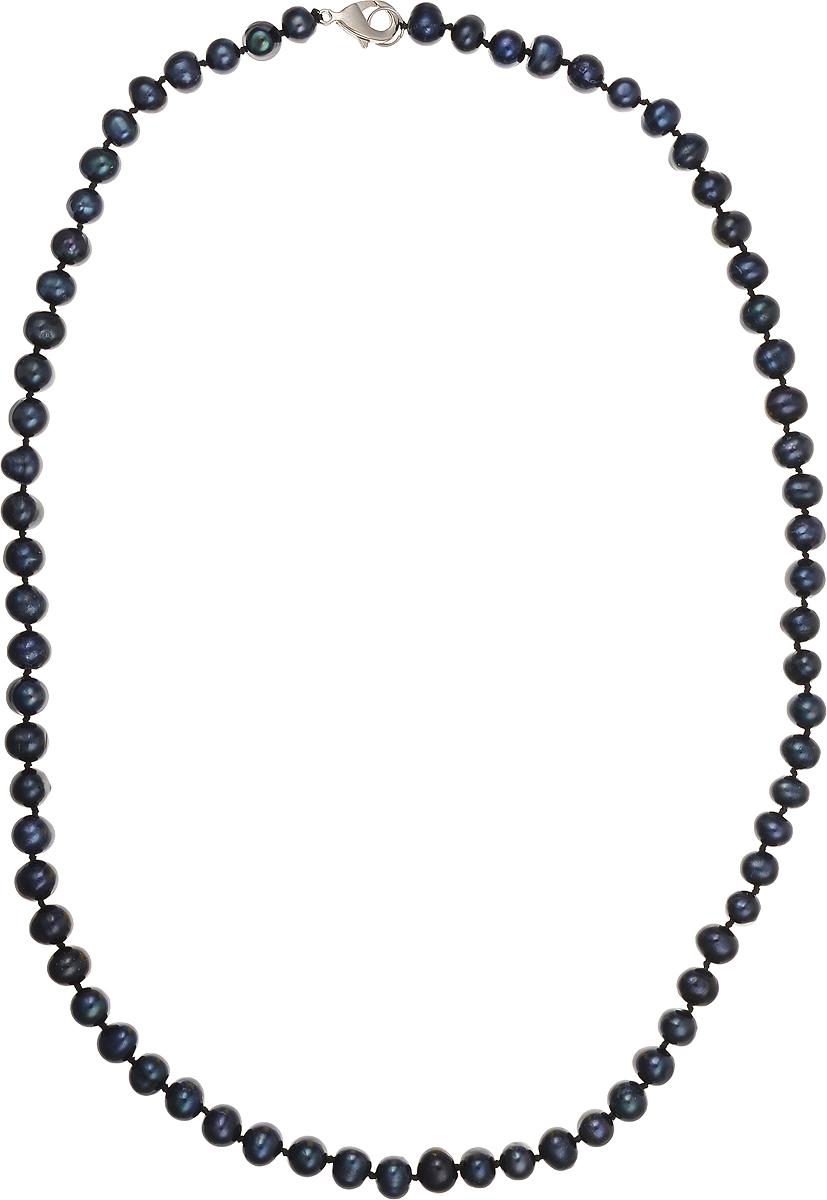 Бусы Art-Silver, цвет: синий, длина 55 см. КЖ7-8А+55-659Колье (короткие одноярусные бусы)Бусы Art-Silver подчеркнут изящество и непревзойденный вкус своей обладательницы. Они выполнены из бижутерного сплава и культивированного жемчуга диаметром 6 мм.Изделие оснащено удобным замком-карабином.Культивированный жемчуг - это практичный аналог природного жемчуга. Бусинки из прессованных раковин помещаются внутрь устрицы и возвращаются в воду. Когда бусины покрываются перламутром, их извлекают из моллюска. Форма жемчужины получается идеально ровной с приятным матовым блеском.