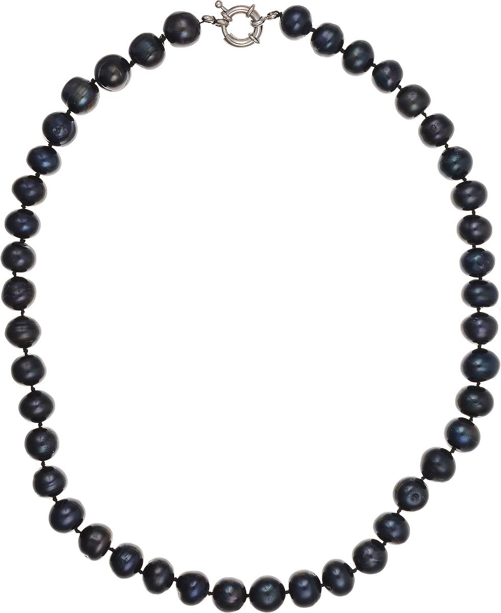 Бусы Art-Silver, цвет: синий, длина 45 см. КЖ11-12А45-684Колье (короткие одноярусные бусы)Бусы Art-Silver подчеркнут изящество и непревзойденный вкус своей обладательницы. Они выполнены из бижутерного сплава и культивированного жемчуга диаметром 10 мм.Изделие оснащено удобным замком-карабином.Культивированный жемчуг - это практичный аналог природного жемчуга. Бусинки из прессованных раковин помещаются внутрь устрицы и возвращаются в воду. Когда бусины покрываются перламутром, их извлекают из моллюска. Форма жемчужины получается идеально ровной с приятным матовым блеском.