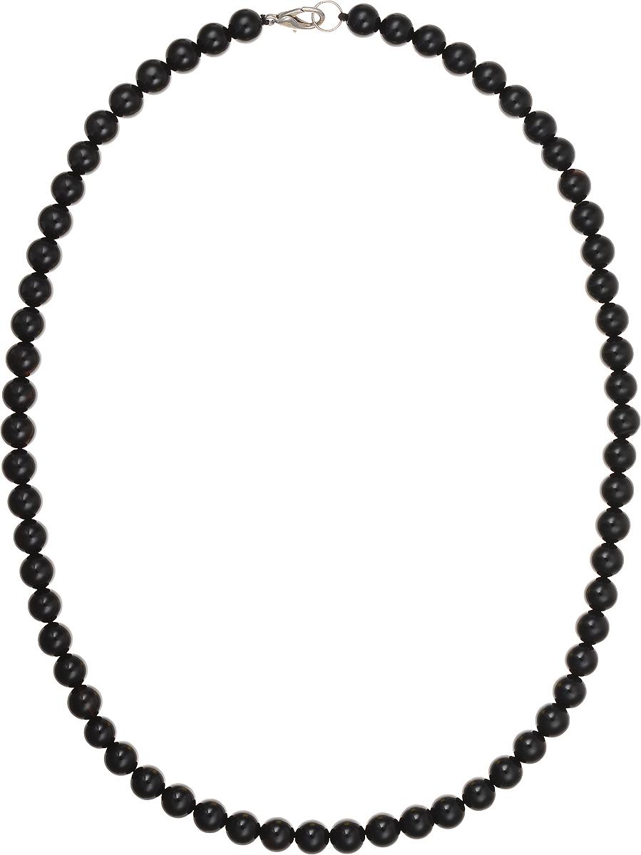 Бусы Art-Silver, цвет: черный, длина 50 см. ЧА8-50-254Колье (короткие одноярусные бусы)Бусы Art-Silver подчеркнут изящество и непревзойденный вкус своей обладательницы. Они выполнены из бижутерного сплава и бусин из агата диаметром 7 мм.Изделие оснащено удобным замком-карабином.Агаты отличаются необыкновенным разнообразием окрасок и рисунков, но все они приносятвладельцу чувства уверенности, спокойствия, равновесия. Украшения из агата защитят вас от энергетических вампиров и принесут счастье. Бусы из этого благородного камня выглядят как произведение искусства. Такое украшение станет изюминкой вашего образа и добавит лоск и элегантность.