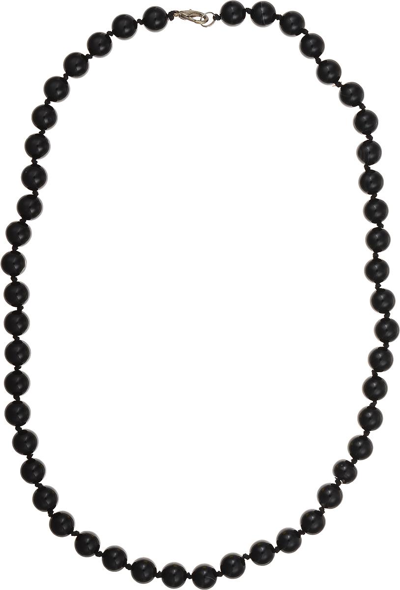Бусы Art-Silver, цвет: черный, длина 60 см. ЧА10-60-423Колье (короткие одноярусные бусы)Бусы Art-Silver подчеркнут изящество и непревзойденный вкус своей обладательницы. Они выполнены из бижутерного сплава и бусин из агата диаметром 10 мм.Изделие оснащено удобным замком-карабином.Агаты отличаются необыкновенным разнообразием окрасок и рисунков, но все они приносятвладельцу чувства уверенности, спокойствия, равновесия. Украшения из агата защитят вас от энергетических вампиров и принесут счастье. Бусы из этого благородного камня выглядят как произведение искусства. Такое украшение станет изюминкой вашего образа и добавит лоск и элегантность.