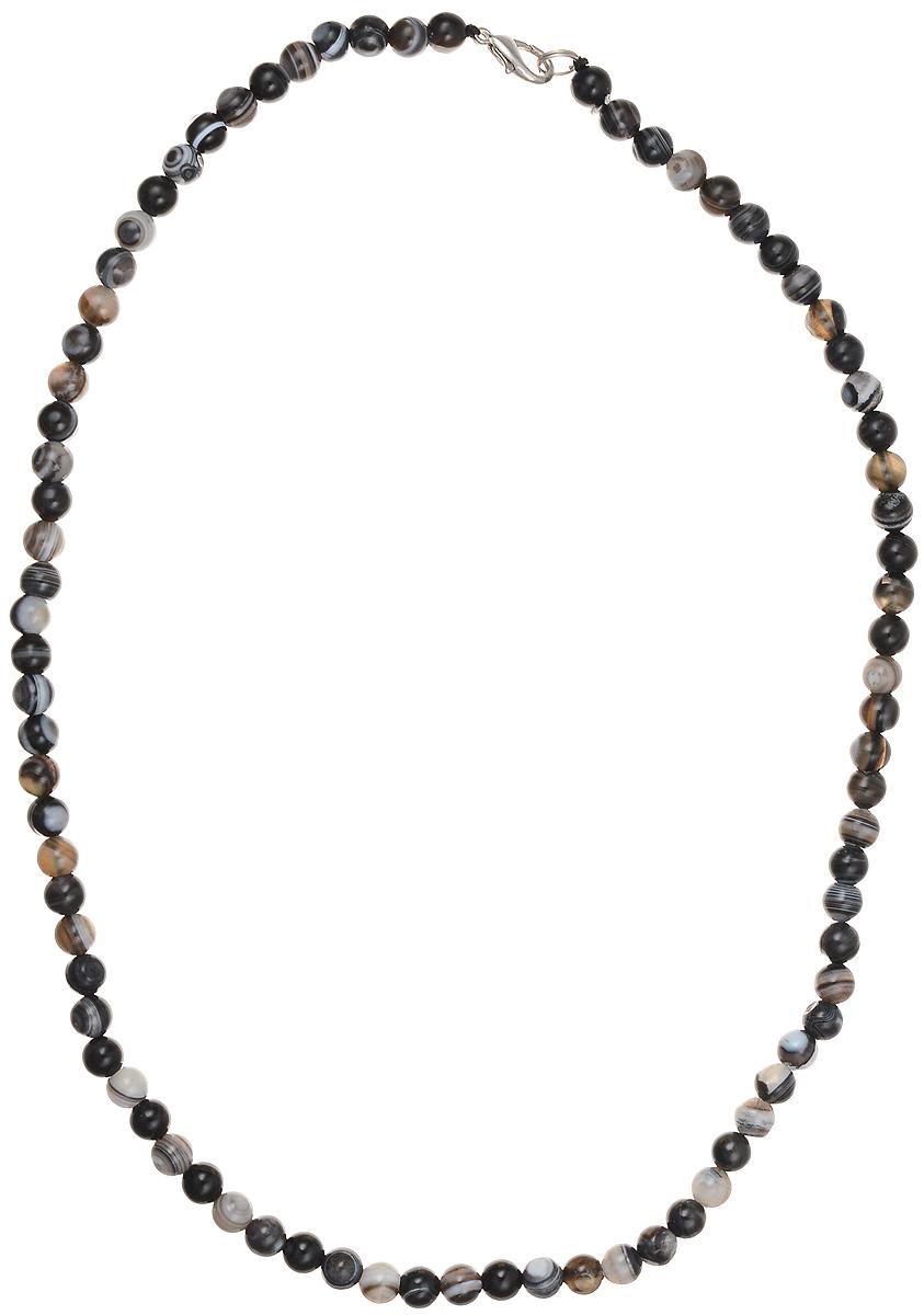 Бусы Art-Silver, цвет: черный, серый, длина 50 см. А6-50-284Колье (короткие одноярусные бусы)Бусы Art-Silver подчеркнут изящество и непревзойденный вкус своей обладательницы. Они выполнены из бижутерного сплава и бусин из агата диаметром 6 мм.Изделие оснащено удобным замком-карабином.Агаты отличаются необыкновенным разнообразием окрасок и рисунков, но все они приносятвладельцу чувства уверенности, спокойствия, равновесия. Украшения из агата защитят вас от энергетических вампиров и принесут счастье. Бусы из этого благородного камня выглядят как произведение искусства. Такое украшение станет изюминкой вашего образа и добавит лоск и элегантность.