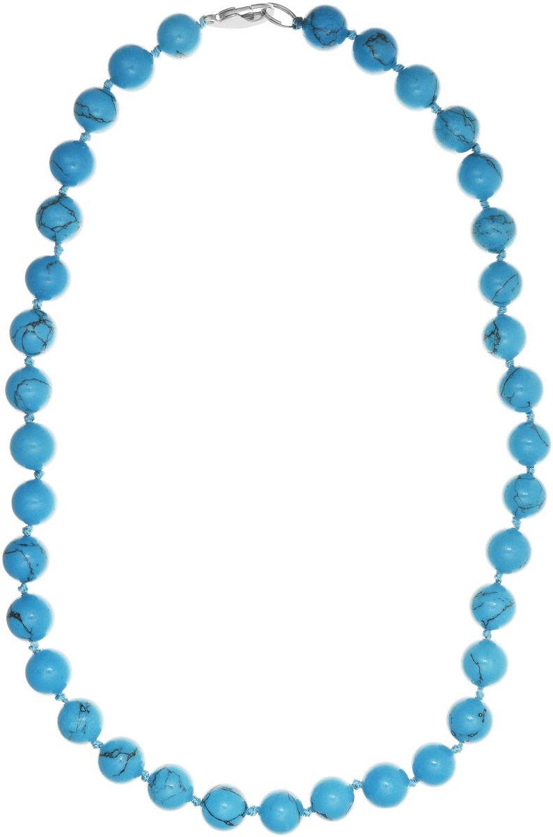 Бусы Art-Silver, цвет: голубой, длина 50 см. Б12-50-267Бусы-ниткаБусы Art-Silver выполнены из бижутерного сплава и бирюзы. Изделие оснащено удобным замком-карабином.