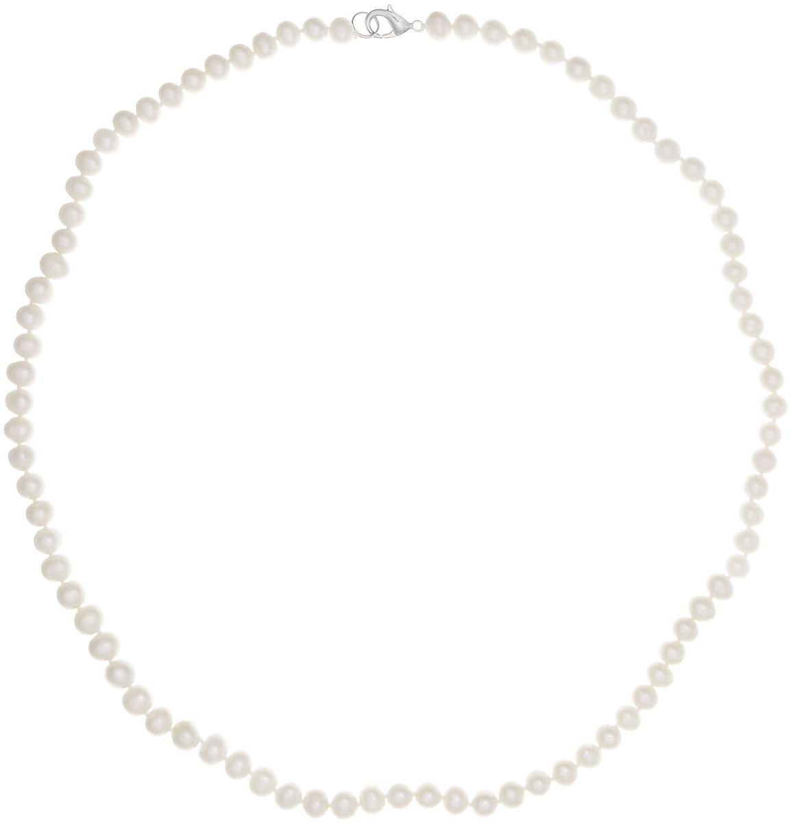 Бусы Art-Silver, цвет: белый, длина 50 см. КЖб8-9-50-533Бусы-ниткаБусы Art-Silver выполнены из культивированного жемчуга, нанизанного на текстильную нить. Украшение имеет удобный замок-карабин из бижутерного сплава.Мелкие бусины диаметром 5-7 мм из натурального культивированного жемчуга нежно-бежевого цвета имеют слегка неоднородную форму, что подчеркивает естественное происхождение жемчужин. Благородный перламутровый блеск жемчуга подчеркнет вашу элегантность и превосходный вкус.