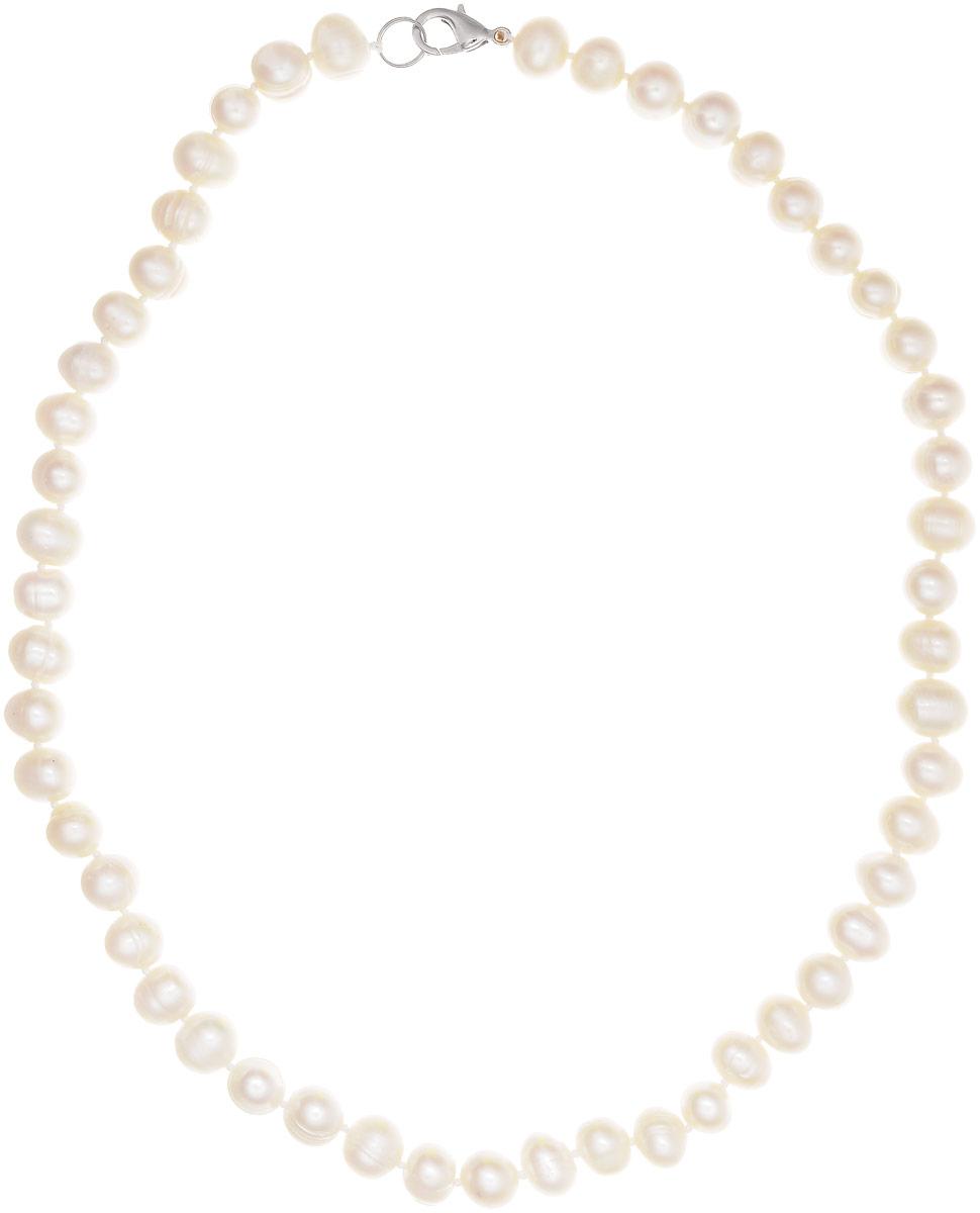 Бусы Art-Silver, цвет: белый, длина 60 см. КЖб7-8А+60-709Бусы-ниткаБусы Art-Silver выполнены из бижутерного сплава и культивированного жемчуга. Изделие оснащено удобным замком-карабином.
