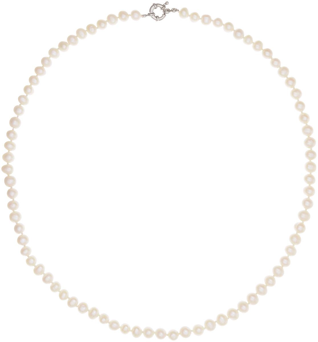 Бусы Art-Silver, цвет: перламутровый, длина 60 см. КЖб7-8АА+-60-878Бусы-ниткаБусы Art-Silver выполнены из бижутерного сплава и культивированного жемчуга. Изделие оснащено удобной шпренгельной застежкой.