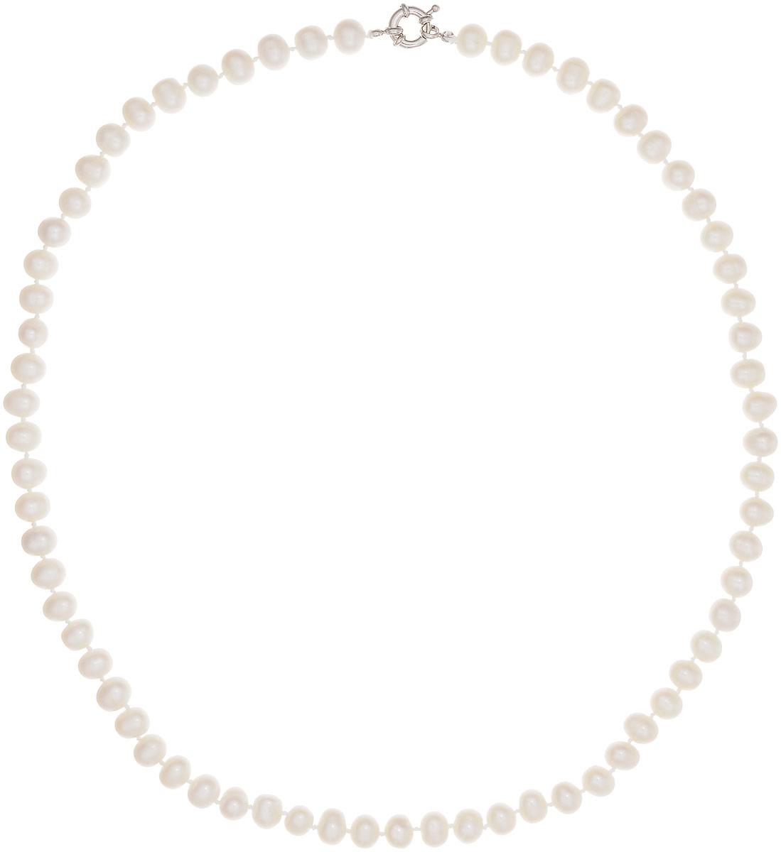 Бусы Art-Silver, цвет: белый, длина 60 см. КЖб8-9А+60-806Бусы-ниткаБусы Art-Silver выполнены из бижутерного сплава и культивированного жемчуга. Изделие оснащено удобной шпренгельной застежкой.