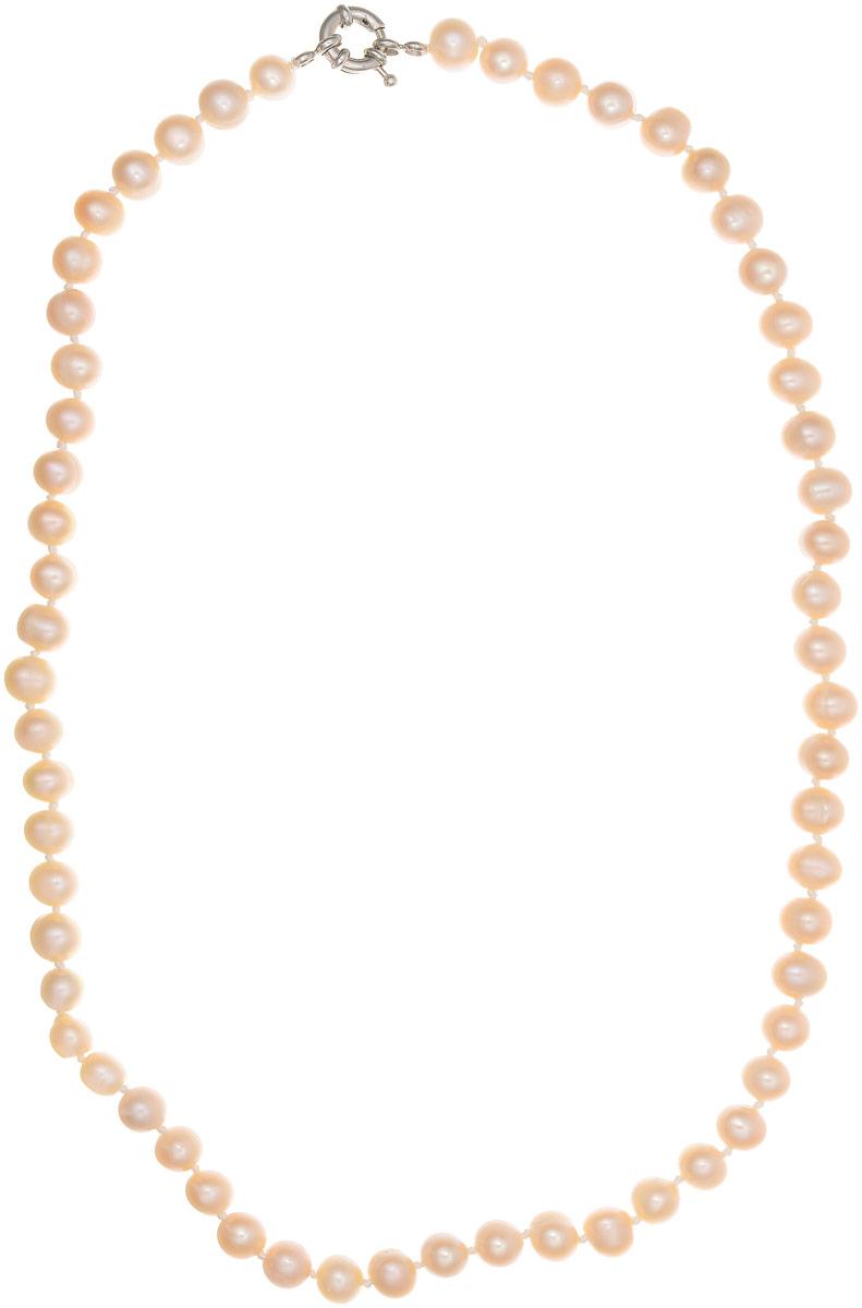 Бусы Art-Silver, цвет: светло-бежевый, длина 50 см. КЖр8-9А+50-684Бусы-ниткаБусы Art-Silver выполнены из культивированного жемчуга, нанизанного на текстильную нить. Украшение имеет удобный крупный шпренгельный замок.Мелкие бусины диаметром 6-8 мм из натурального культивированного жемчуга нежно-бежевого цвета имеют слегка неоднородную форму, что подчеркивает естественное происхождение жемчужин.