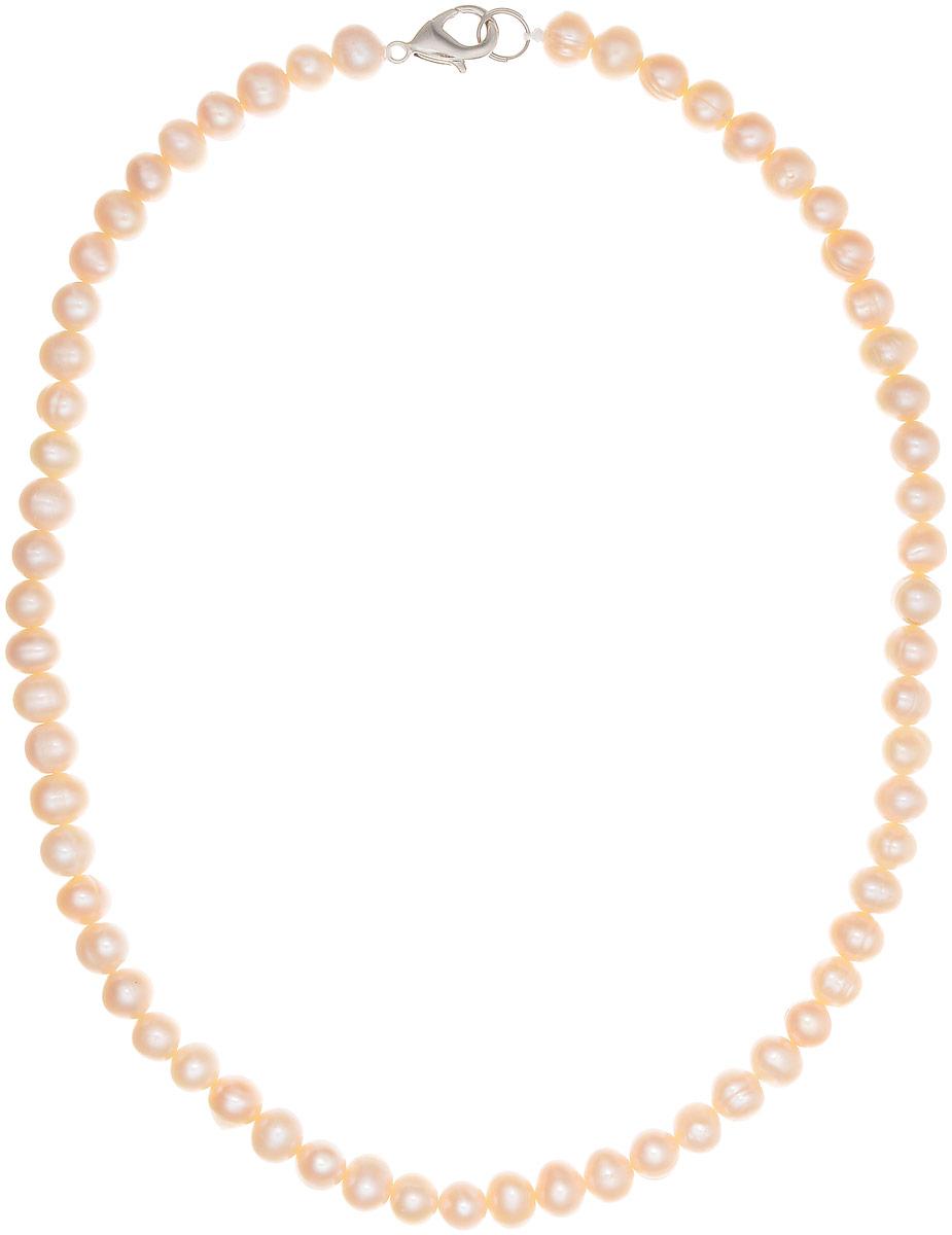 Бусы Art-Silver, цвет: пепельно-розовый, длина 40 см. КЖр6-7А+40-390Бусы-ниткаБусы Art-Silver изготовлены из культивированного жемчуга. Изделие оформлено однотонными бусинами и застегивается на замок-карабин из бижутерного сплава.