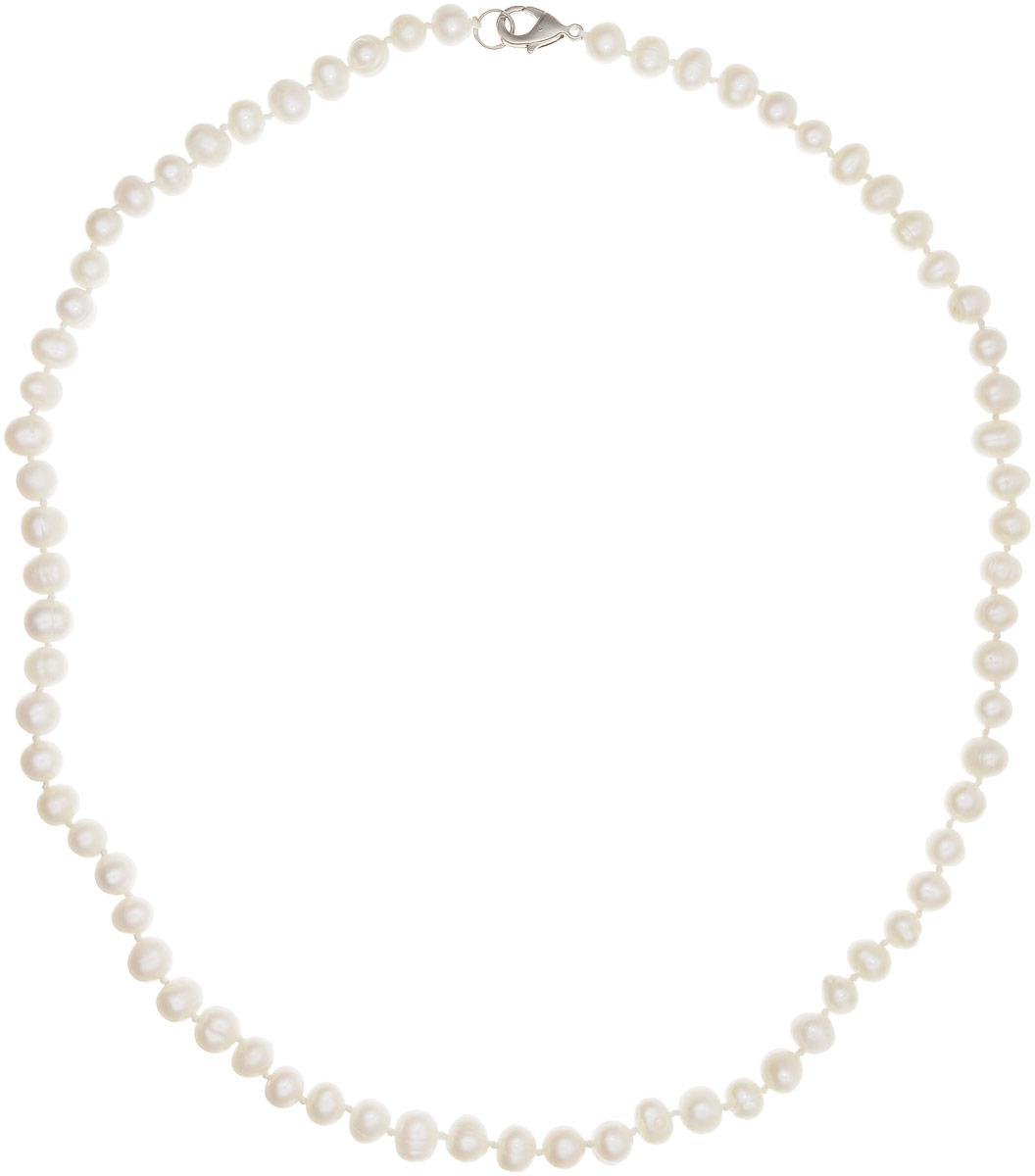 Бусы Art-Silver, цвет: белый, длина 55 см. КЖб7-8А55-513Бусы-ниткаБусы Art-Silver выполнены из культивированного жемчуга, нанизанного на текстильную нить. Украшение имеет удобный замок-карабин из бижутерного сплава.Мелкие бусины диаметром 5-7 мм из натурального культивированного жемчуга нежно-бежевого цвета имеют слегка неоднородную форму, что подчеркивает естественное происхождение жемчужин. Благородный перламутровый блеск жемчуга подчеркнет вашу элегантность и превосходный вкус.