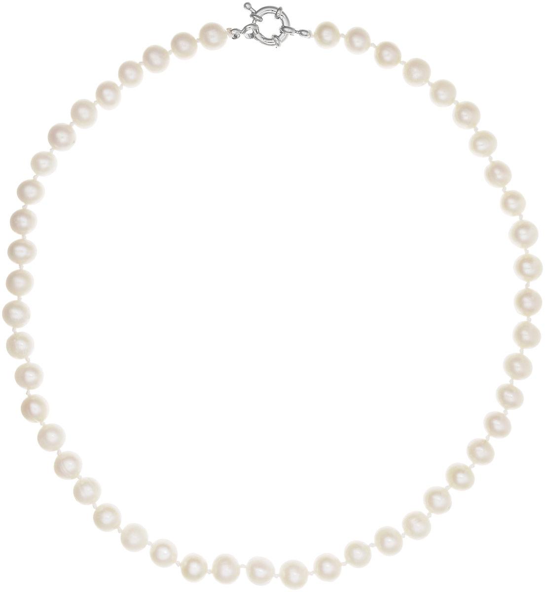 Бусы Art-Silver, цвет: белый, длина 45 см. КЖб8-9АА45-842Бусы-ниткаБусы Art-Silver выполнены из бижутерного сплава и культивированного жемчуга. Изделие оснащено удобной шпренгельной застежкой.