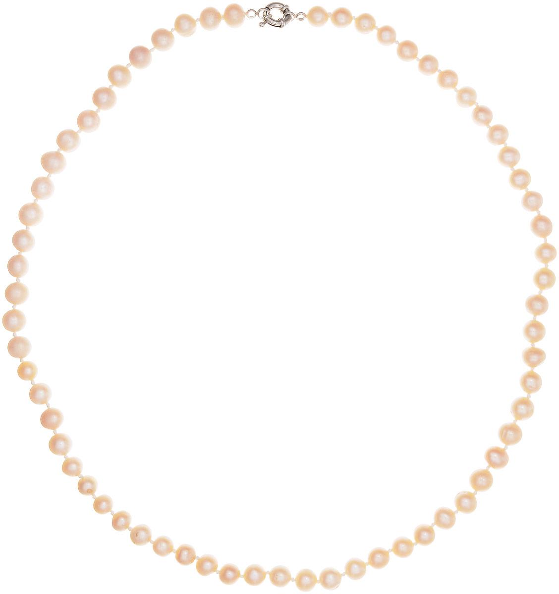 Бусы Art-Silver, цвет: пепельно-розовый, длина 60 см. КЖр9-10А+60-905Бусы-ниткаБусы Art-Silver изготовлены из культивированного жемчуга. Изделие оформлено однотонными бусинами и застегивается на шпренгельный замок из бижутерного сплава.