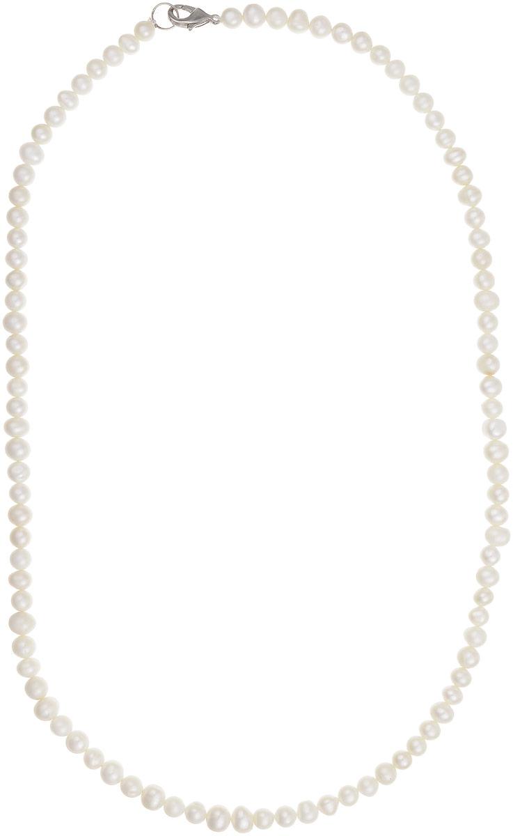 Бусы Art-Silver, цвет: белый, длина 60 см. КЖб6-7А60-446Бусы-ниткаБусы Art-Silver выполнены из бижутерного сплава и культивированного жемчуга. Изделие оснащено удобным замком-карабином.