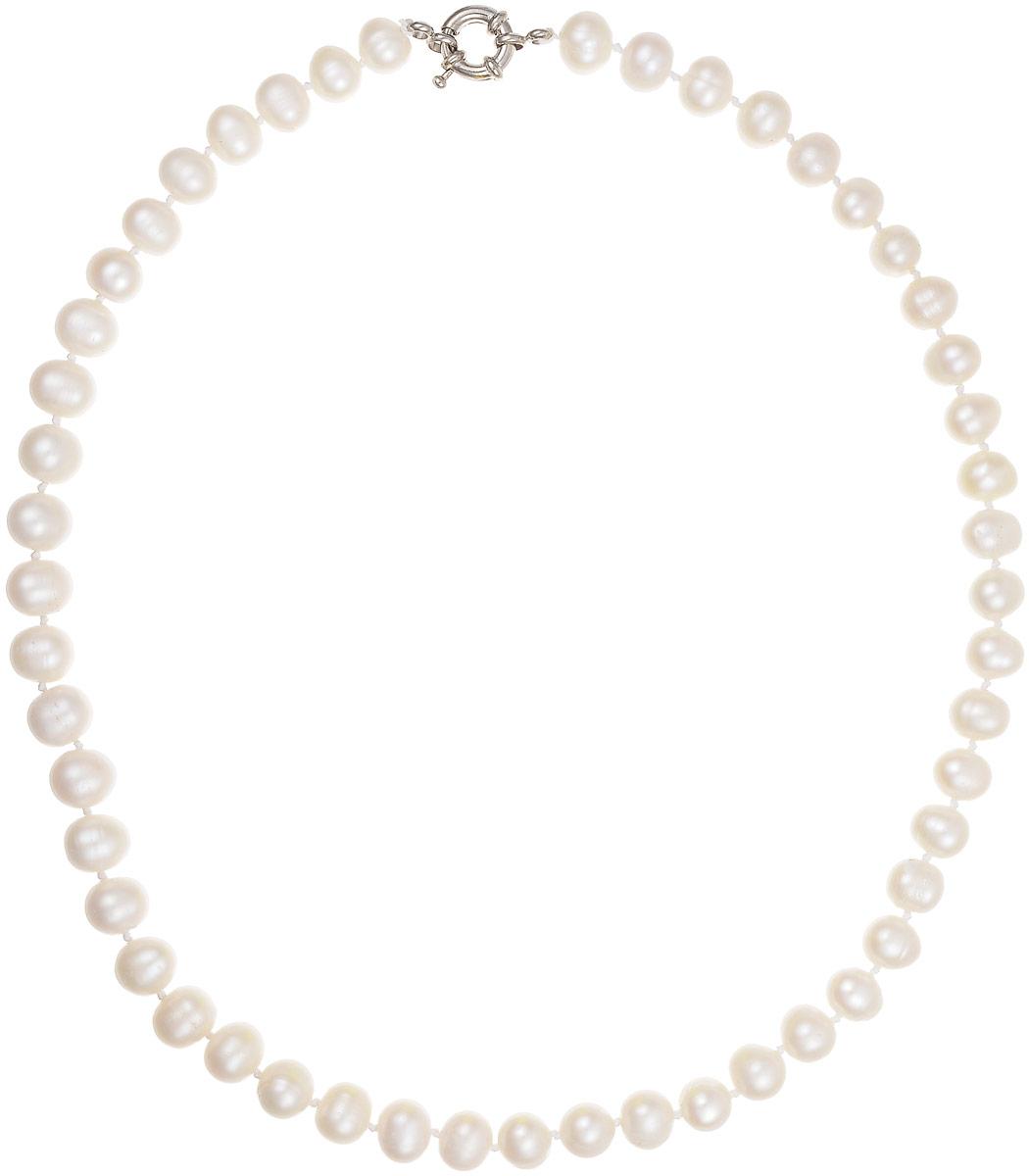 Бусы Art-Silver, цвет: перламутровый, длина 45 см. КЖб8-9А45-842Бусы-ниткаБусы Art-Silver выполнены из бижутерного сплава и культивированного жемчуга. Изделие оснащено удобной шпренгельной застежкой.