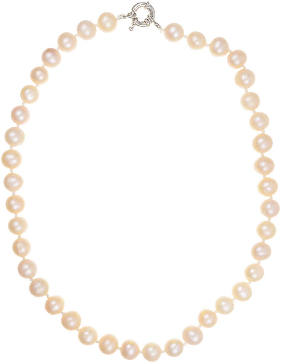 Бусы Art-Silver, цвет: перламутровый, длина 40 см. КЖр9-10А+40-610Бусы-ниткаБусы Art-Silver выполнены из бижутерного сплава и культивированного жемчуга. Изделие оснащено удобной шпренгельной застежкой.