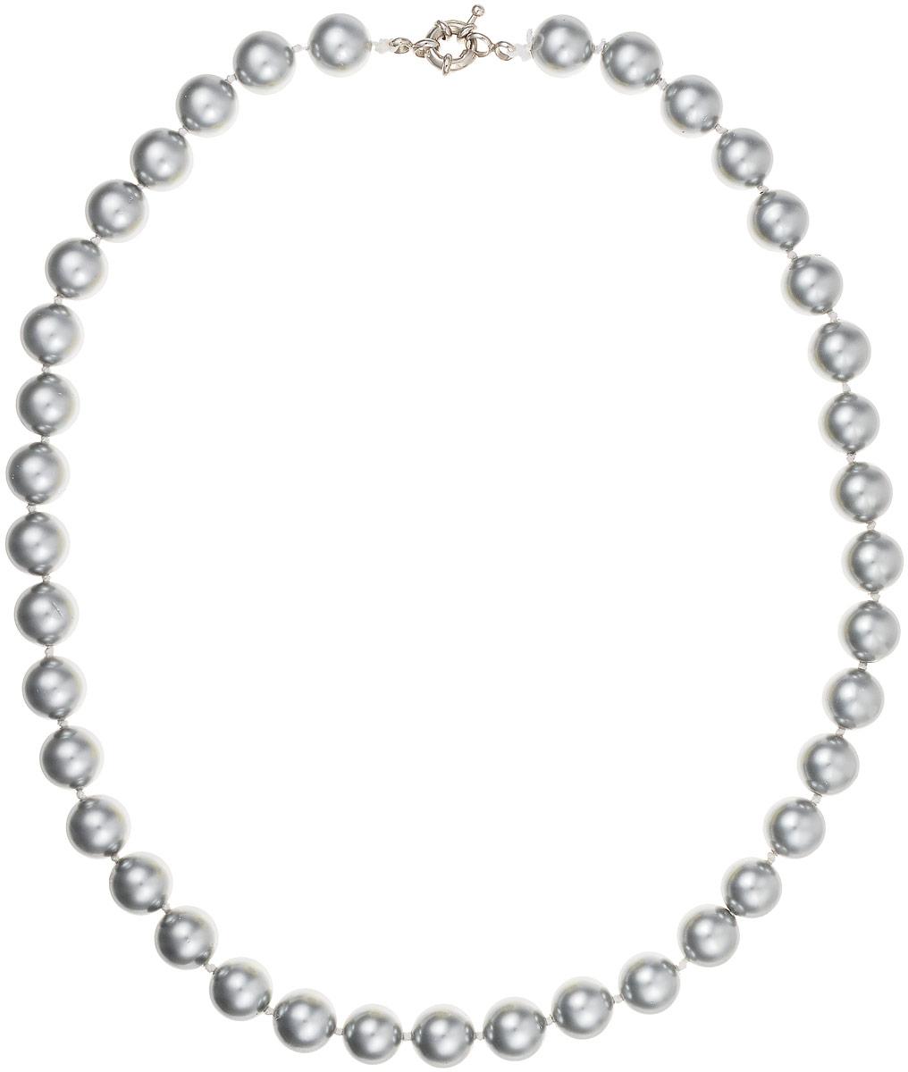Бусы Art-Silver, цвет: серебристый, длина 50 см. МАЙ31045-432Бусы-ниткаБусы Art-Silver выполнены из имитации жемчуга, нанизанного на текстильную нить. Украшение дополнено крупным удобным шпренгельным замочком из бижутерного сплава.Бусины диаметром 8 мм выполнены в оригинальном серебристом цвете. Материал бусин по свойствам и виду максимально близок к натуральному жемчугу.