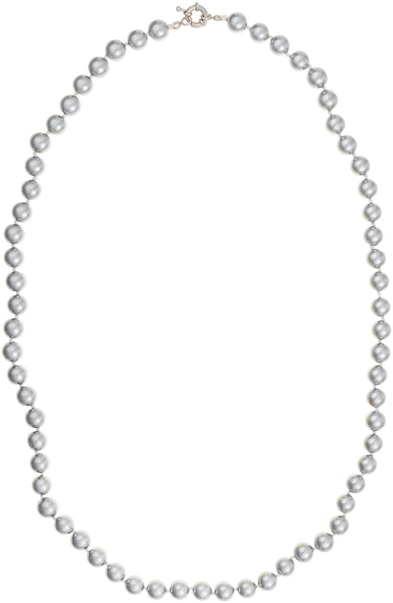 Бусы Art-Silver, цвет: серый, длина 60 см. МАЙ30860-459Бусы-ниткаБусы Art-Silver выполнены из бижутерного сплава и искусственного жемчуга. Изделие оснащено удобной шпренгельной застежкой.