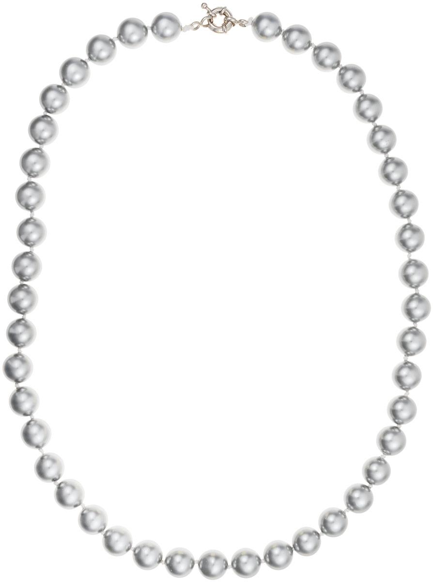 Бусы Art-Silver, цвет: серый, длина 50 см. МАЙ31050-513Бусы-ниткаБусы Art-Silver выполнены из бижутерного сплава и искусственного жемчуга. Изделие оснащено удобной шпренгельной застежкой.