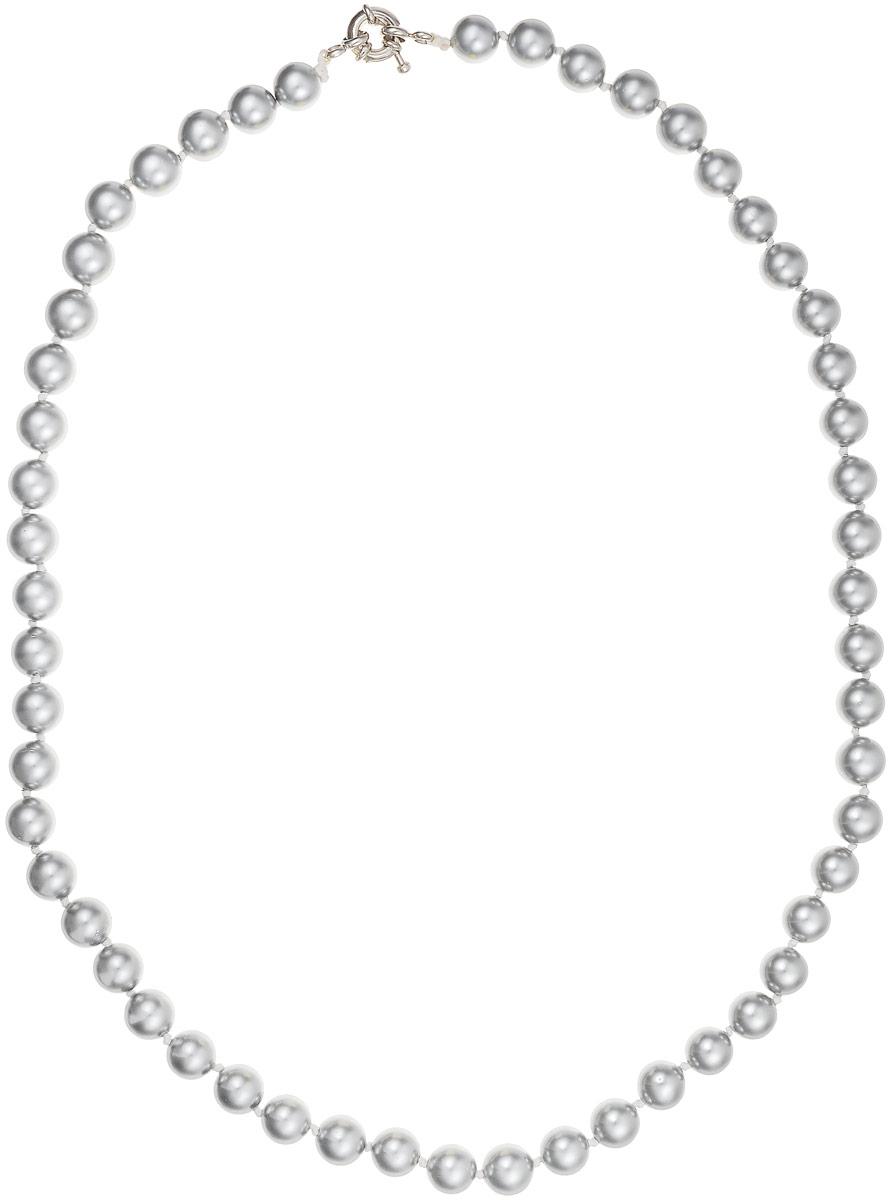 Бусы Art-Silver, цвет: серый, длина 50 см. МАЙ30850-392Бусы-ниткаБусы Art-Silver выполнены из бижутерного сплава и искусственного жемчуга. Изделие оснащено удобной шпренгельной застежкой.