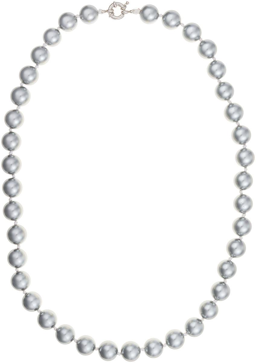 Бусы Art-Silver, цвет: серый металлик, длина 55 см. МАЙ31255-662Бусы-ниткаБусы Art-Silver изготовлены из материала майорика, который схож по свойствам с натуральным жемчугом. Изделие оформлено крупными однотонными бусинами и застегивается на шпренгельный замок из бижутерного сплава.